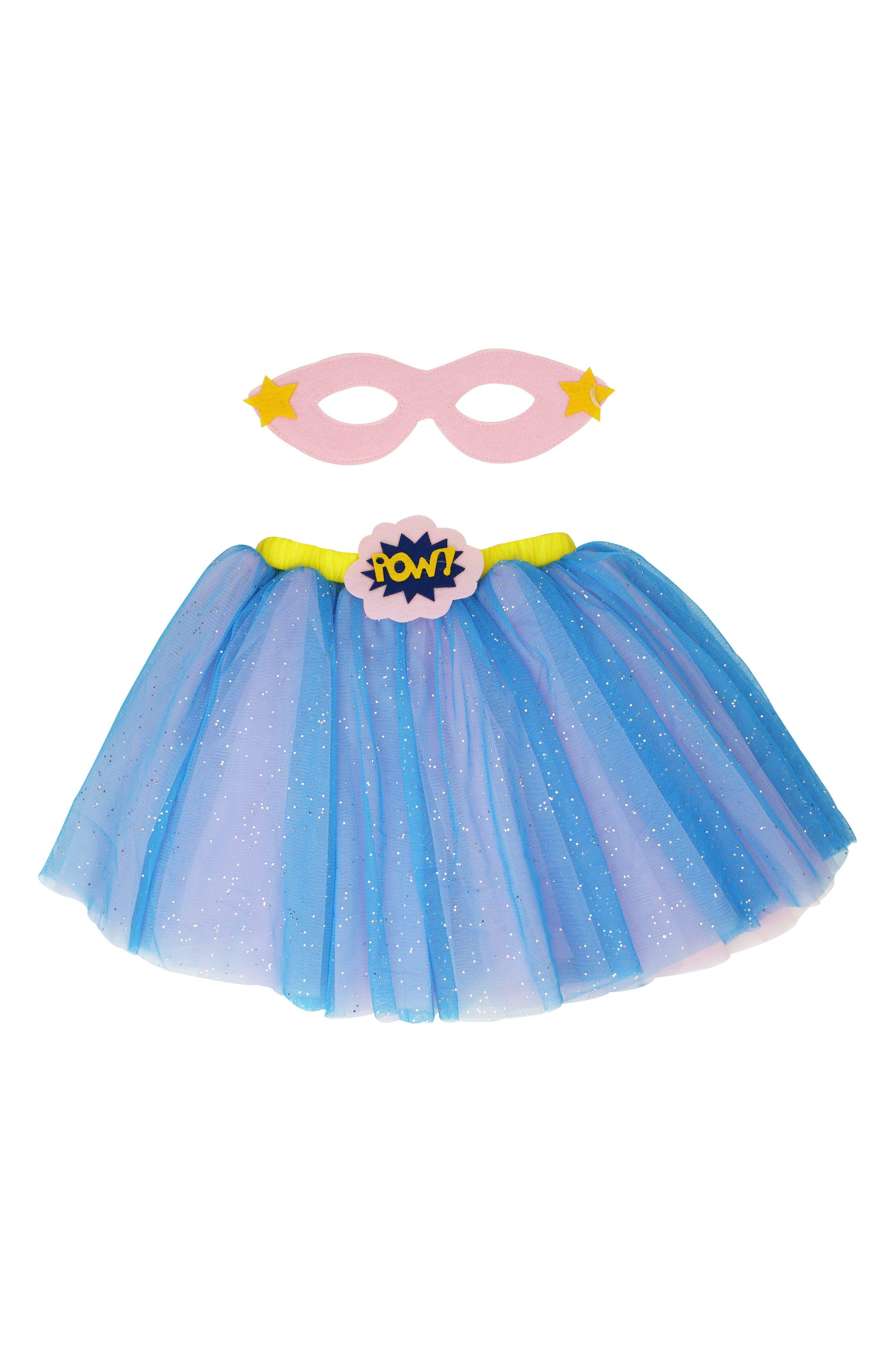 Popatu Supergirl Tutu \u0026 Mask Set (Baby Girls)