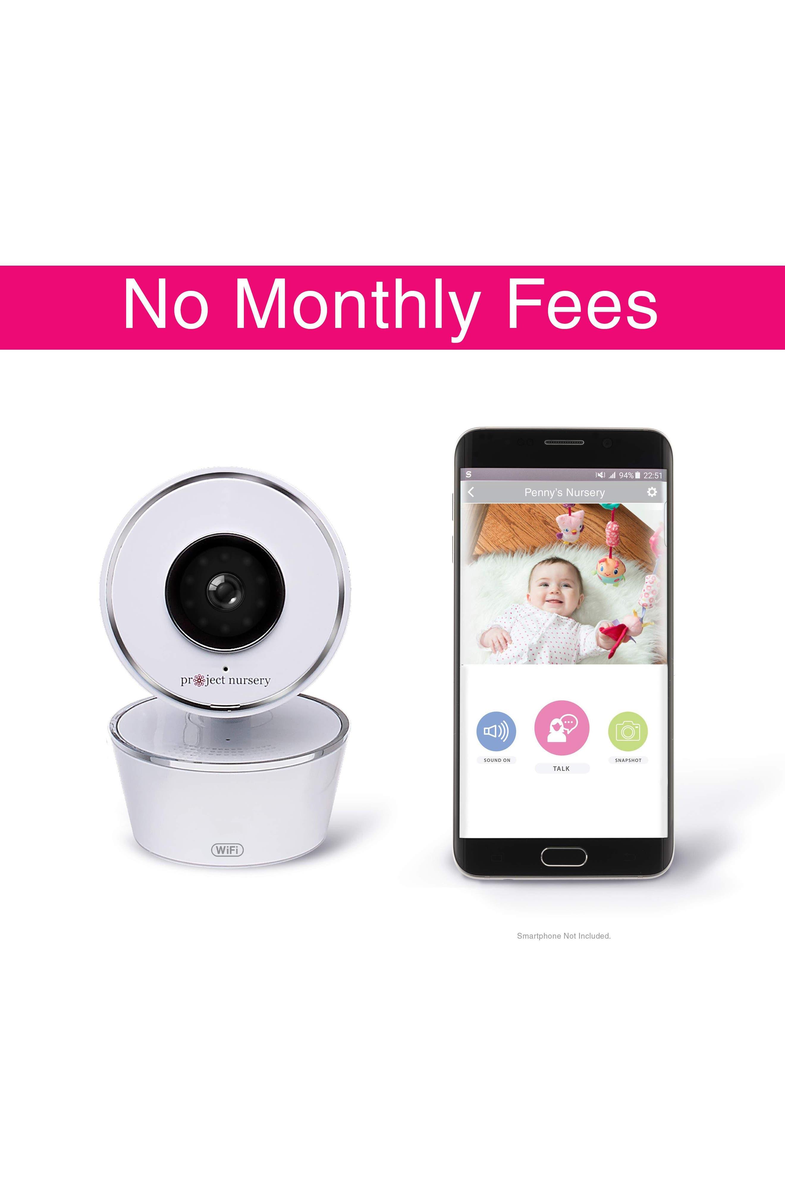 Smart Nursery Wi-Fi Baby Monitor,                             Alternate thumbnail 4, color,                             White