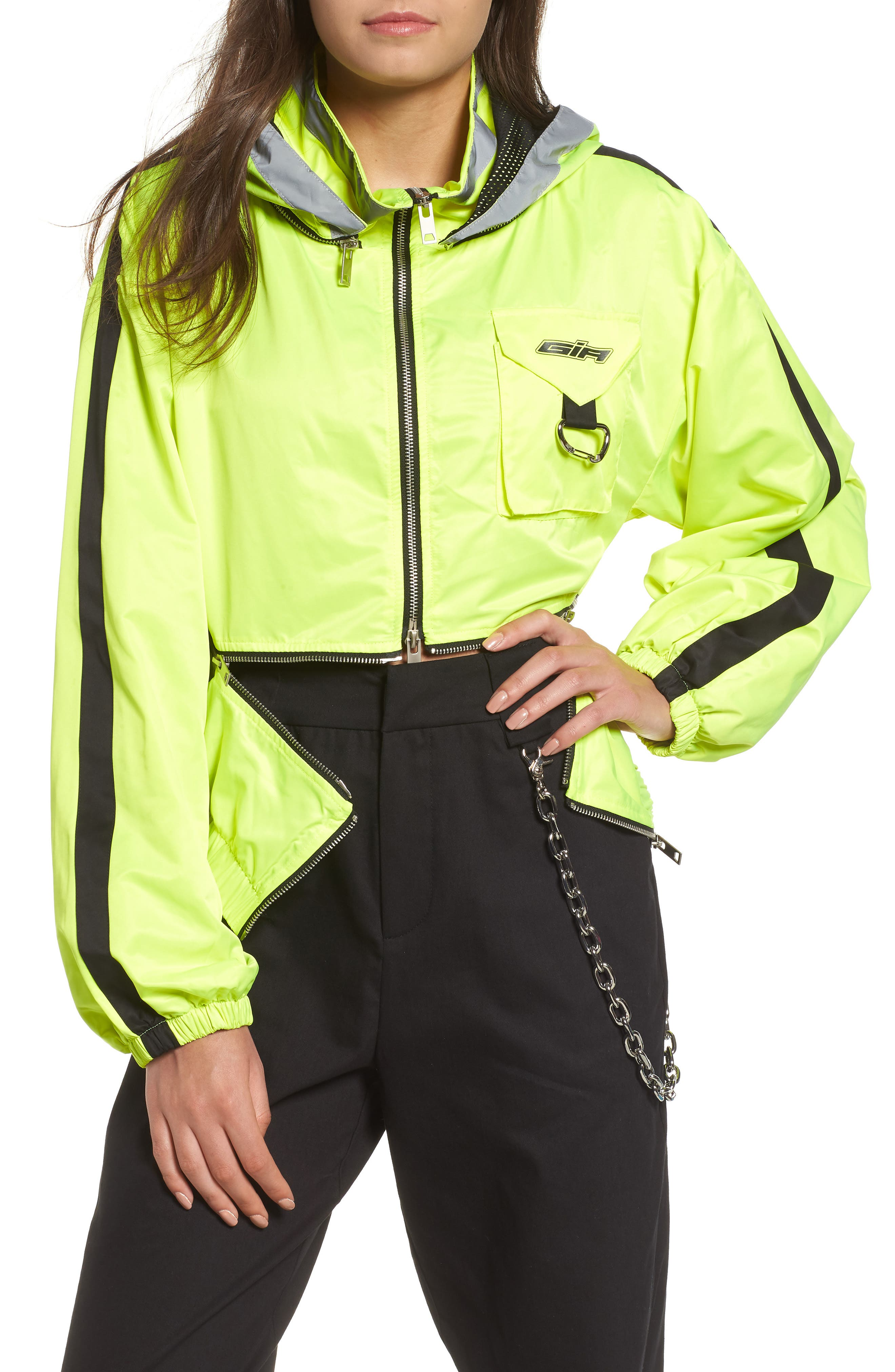 I.AM.GIA Neptune Jacket,                             Main thumbnail 1, color,                             Neon Yellow