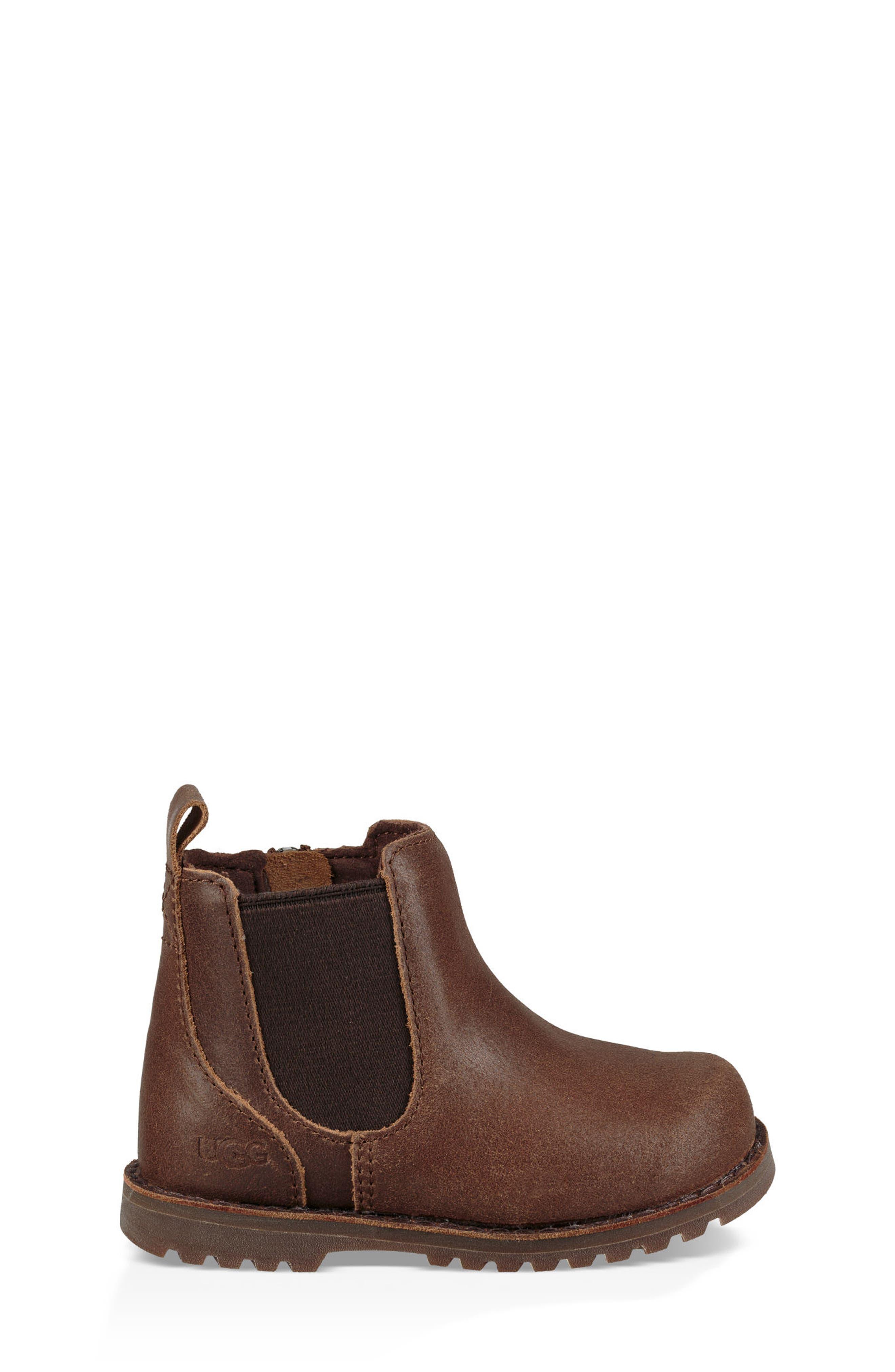 Callum Water Resistant Chelsea Boot,                             Alternate thumbnail 4, color,                             Chocolate Brown