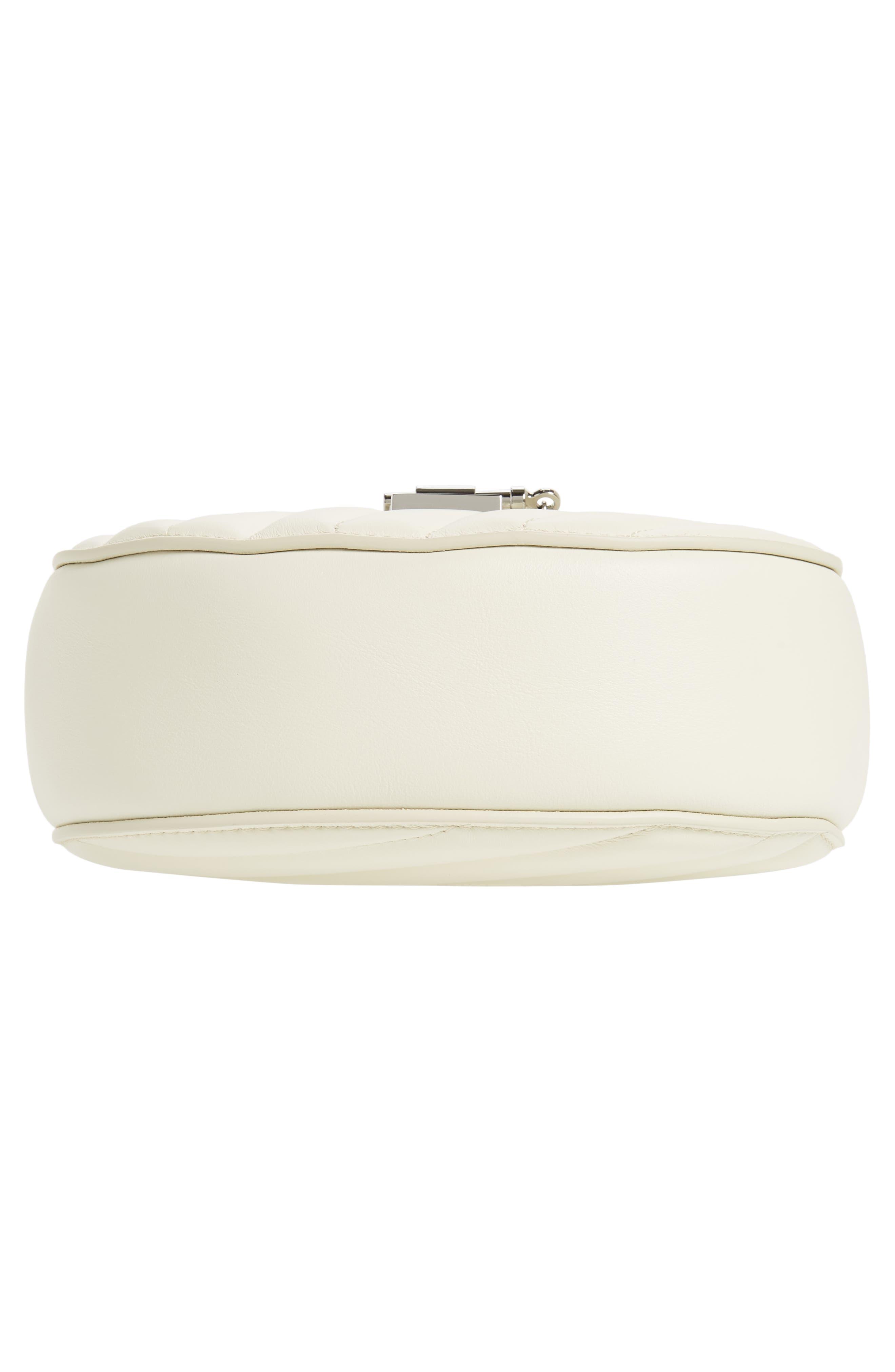 Mini Drew Bijoux Leather Shoulder Bag,                             Alternate thumbnail 10, color,                             Natural White