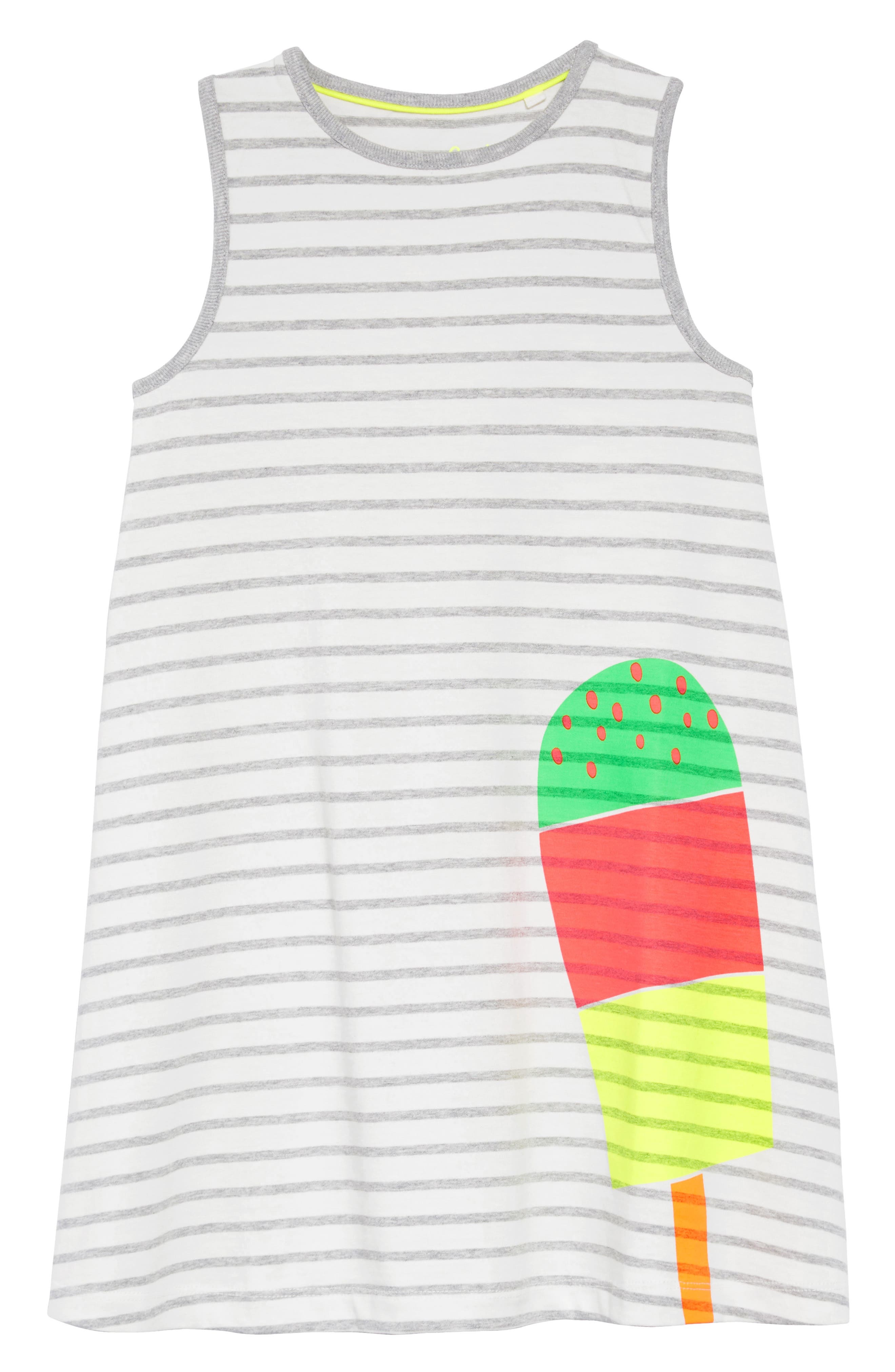 Vacation Appliqué Dress,                         Main,                         color, Ivory/ Grey Marl Stripe