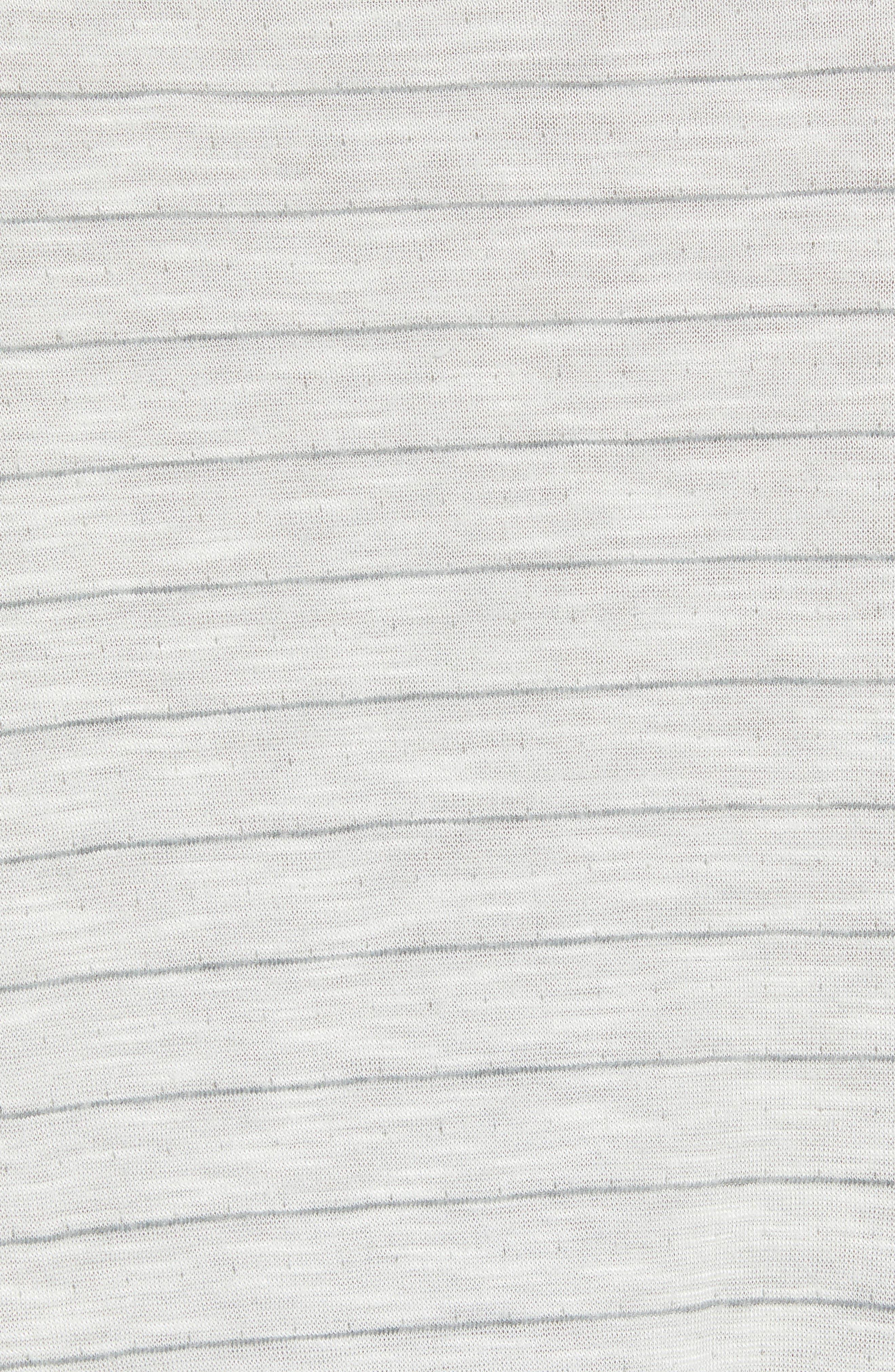 Slim Fit Stripe Slub Jersey T-Shirt,                             Alternate thumbnail 5, color,                             Grey Stripe