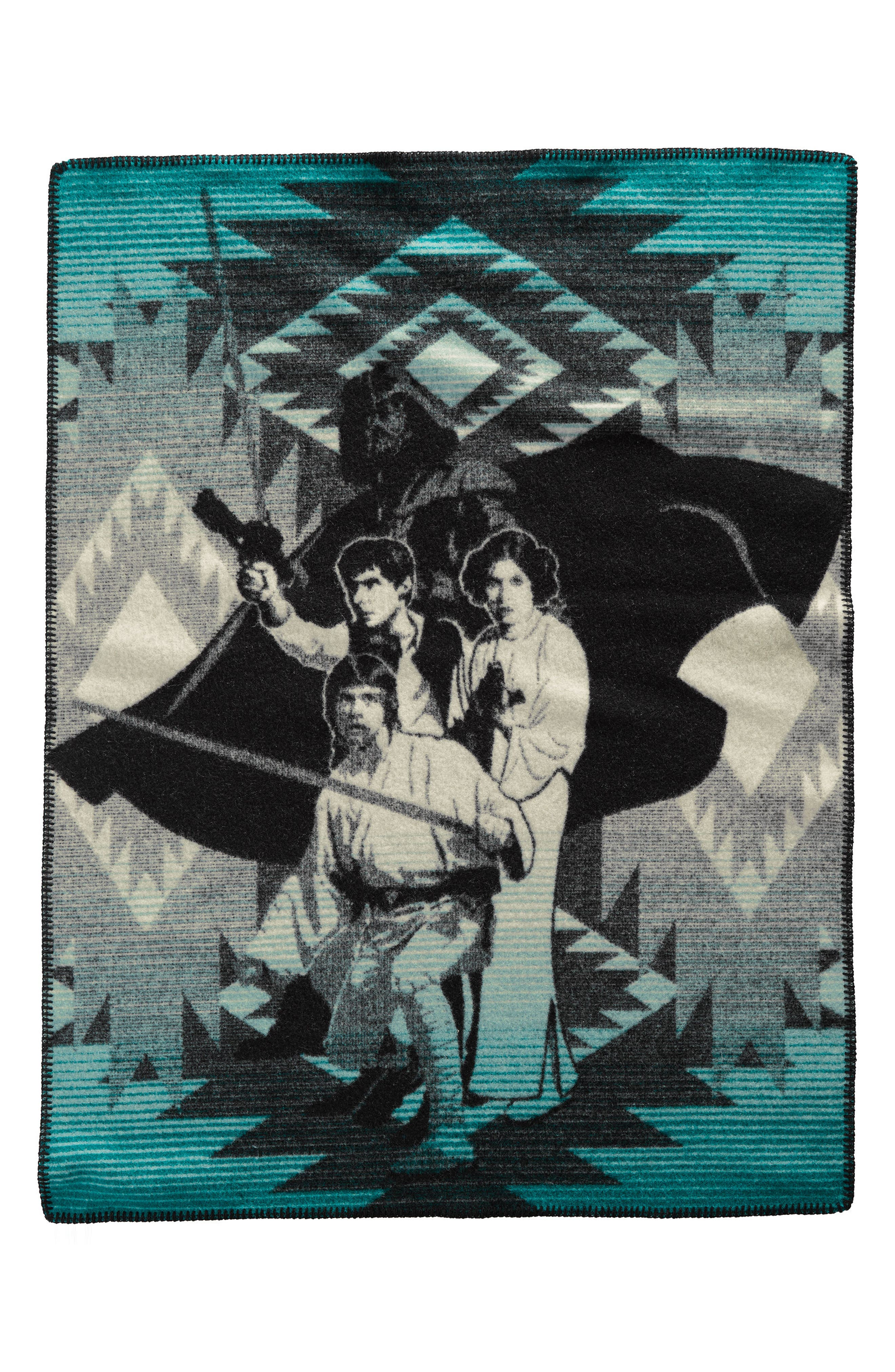 Star Wars<sup>™</sup> 'A New Hope' Baby Blanket,                             Main thumbnail 1, color,                             Turquoise