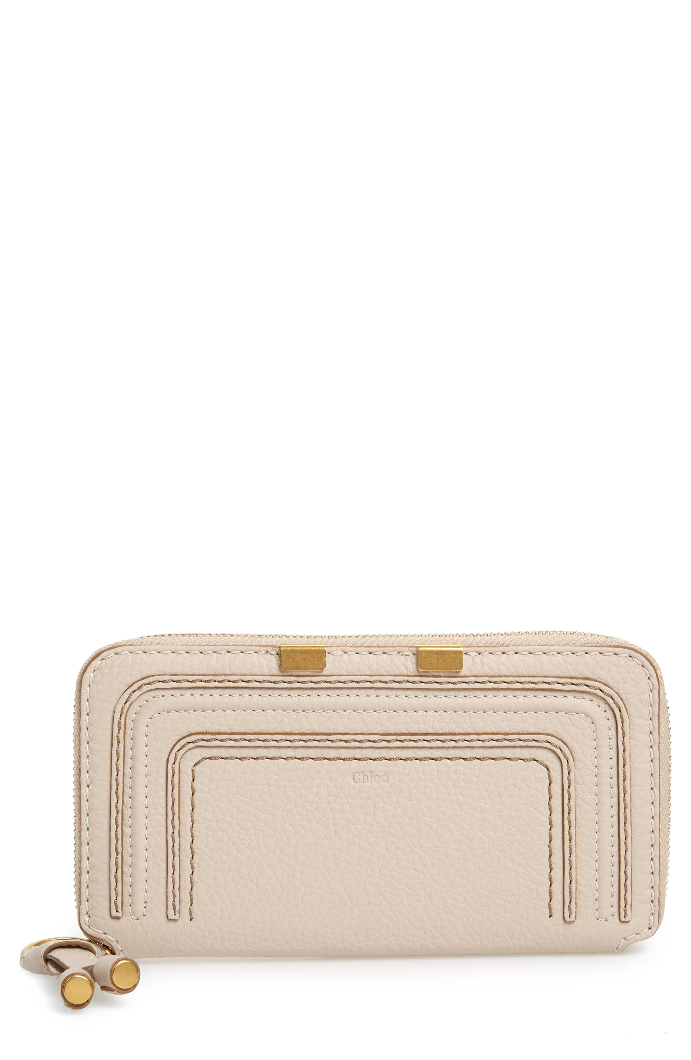 'Marcie - Long' Zip Around Wallet,                         Main,                         color, Abstract White