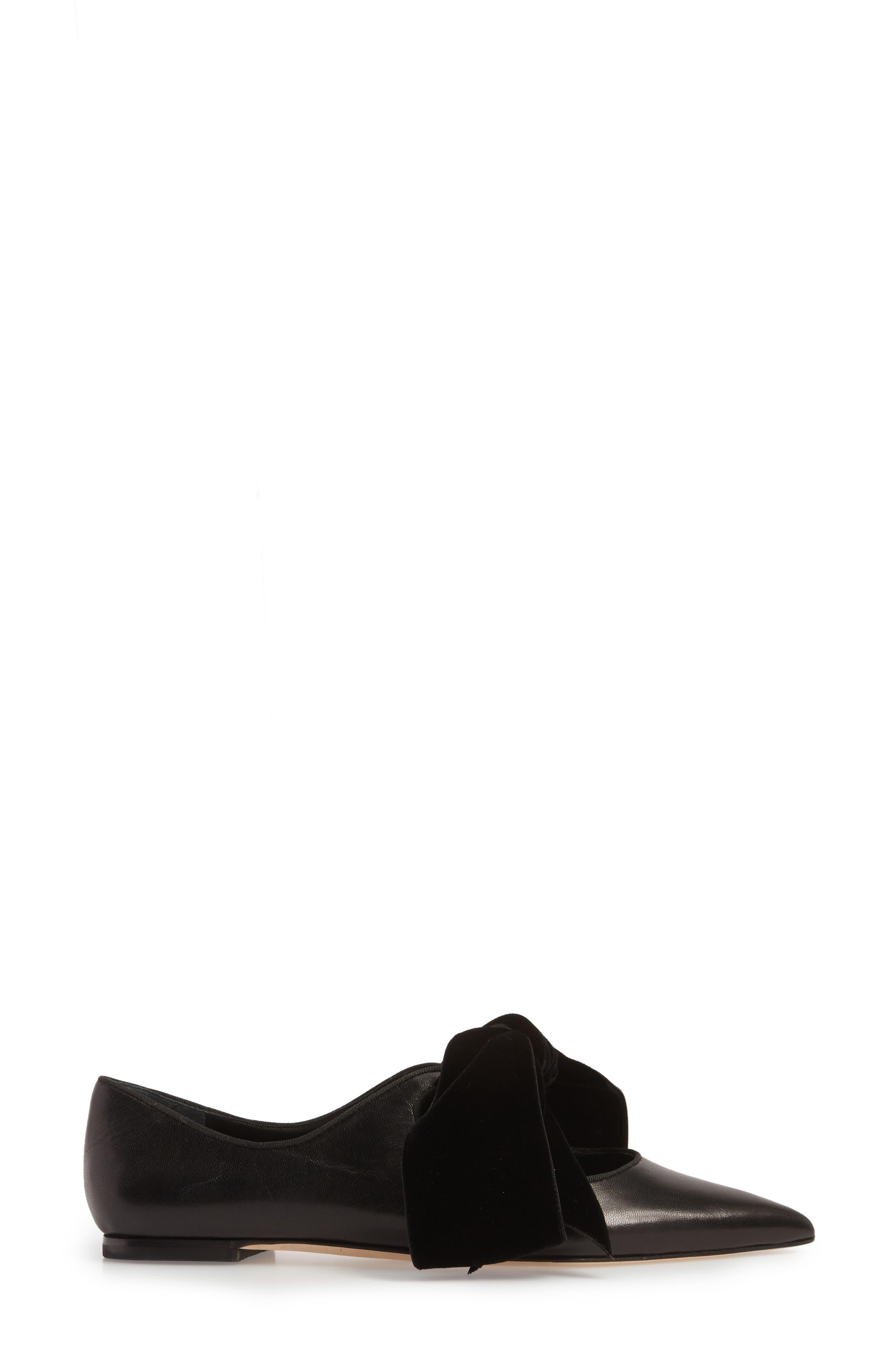 Clara Bow Flat,                             Alternate thumbnail 6, color,                             Perfect Black