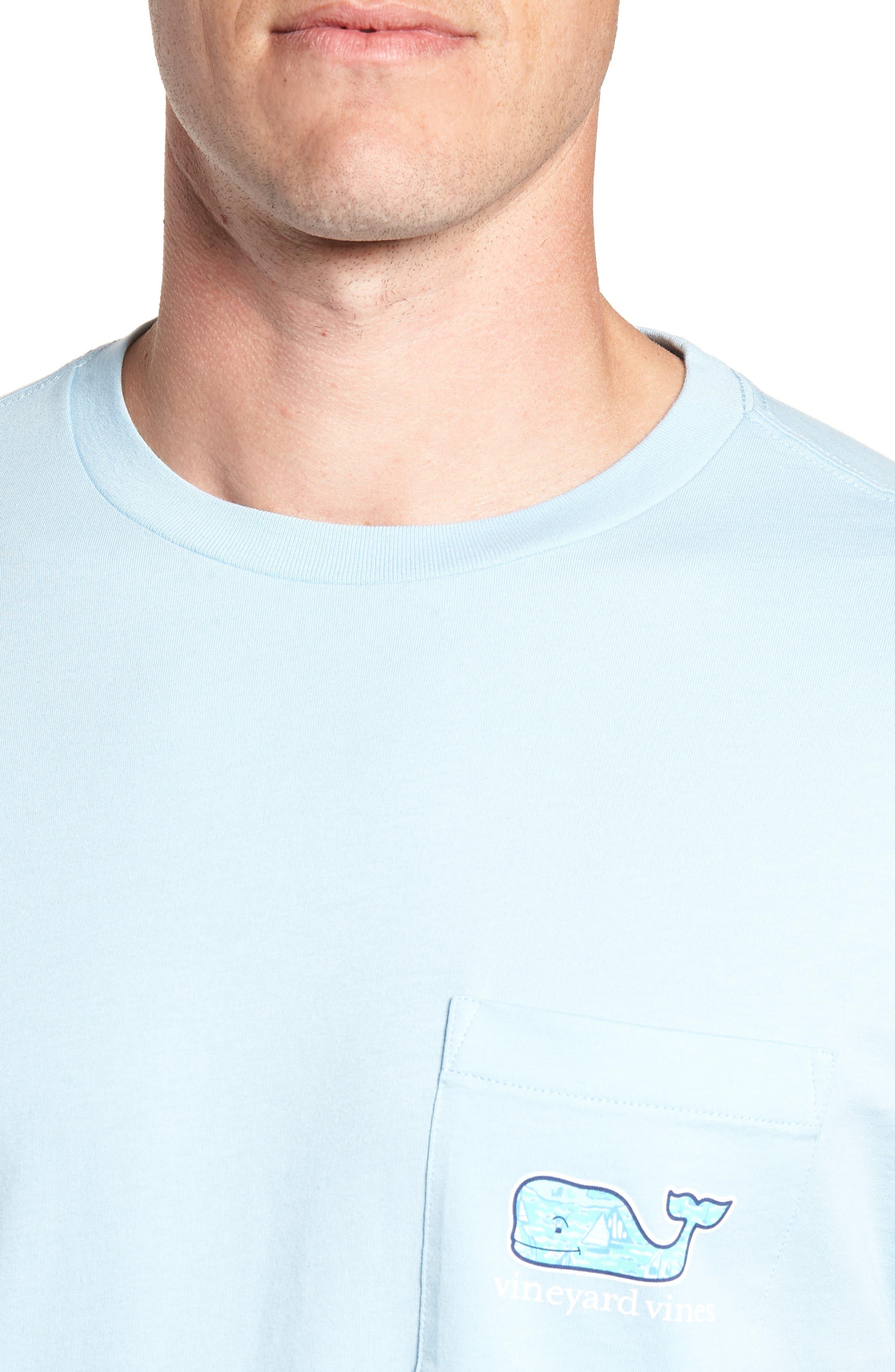 Sailing the Vineyard Pocket T-Shirt,                             Alternate thumbnail 4, color,                             Jake Blue