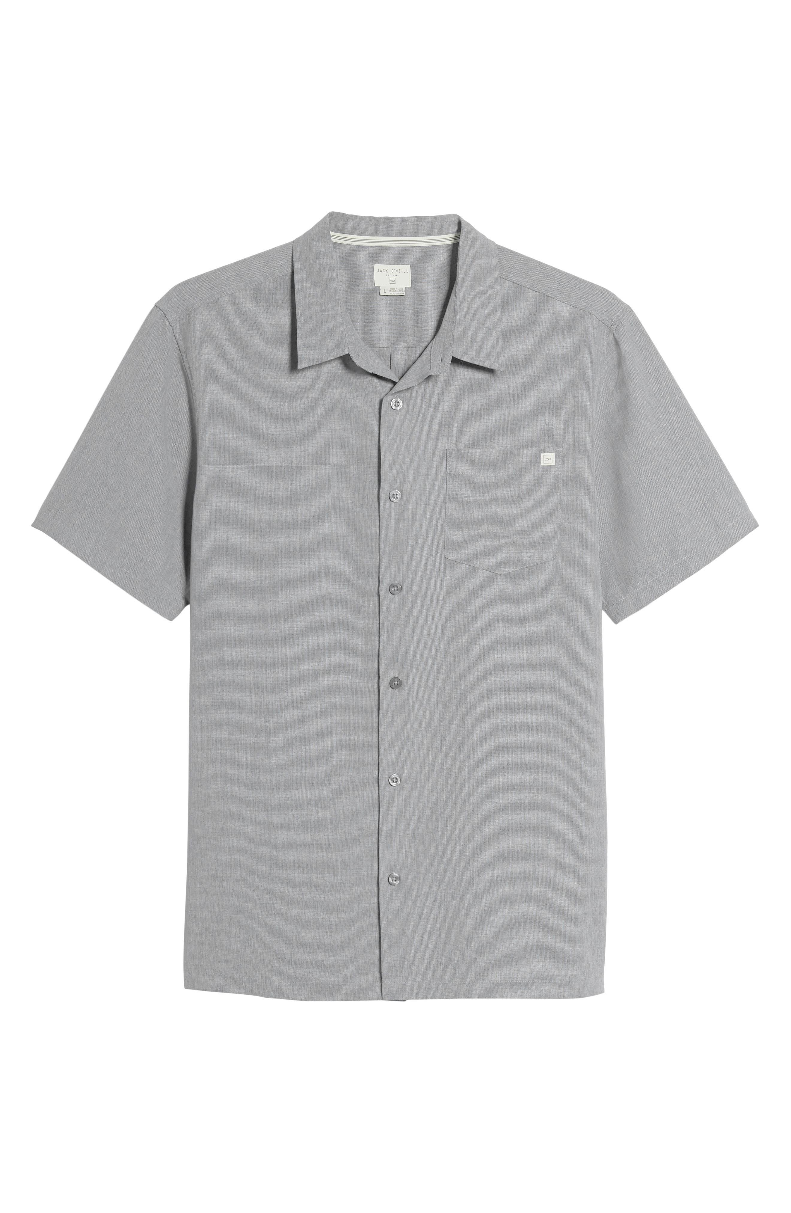 Liberty Regular Fit Short Sleeve Sport Shirt,                             Alternate thumbnail 11, color,                             Light Grey
