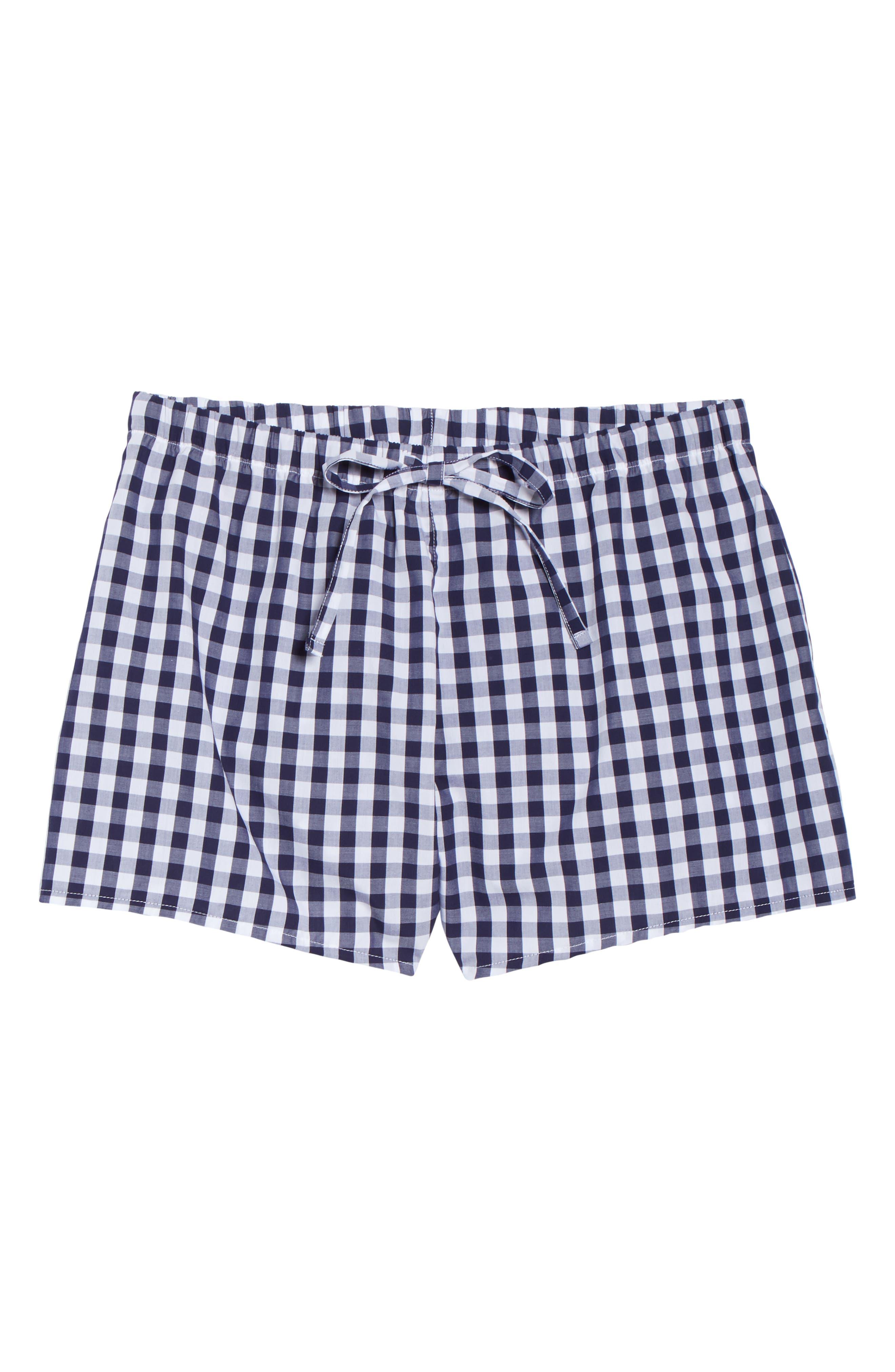 SLEEPY JONES Pajama Shorts in Large Gingham Blue