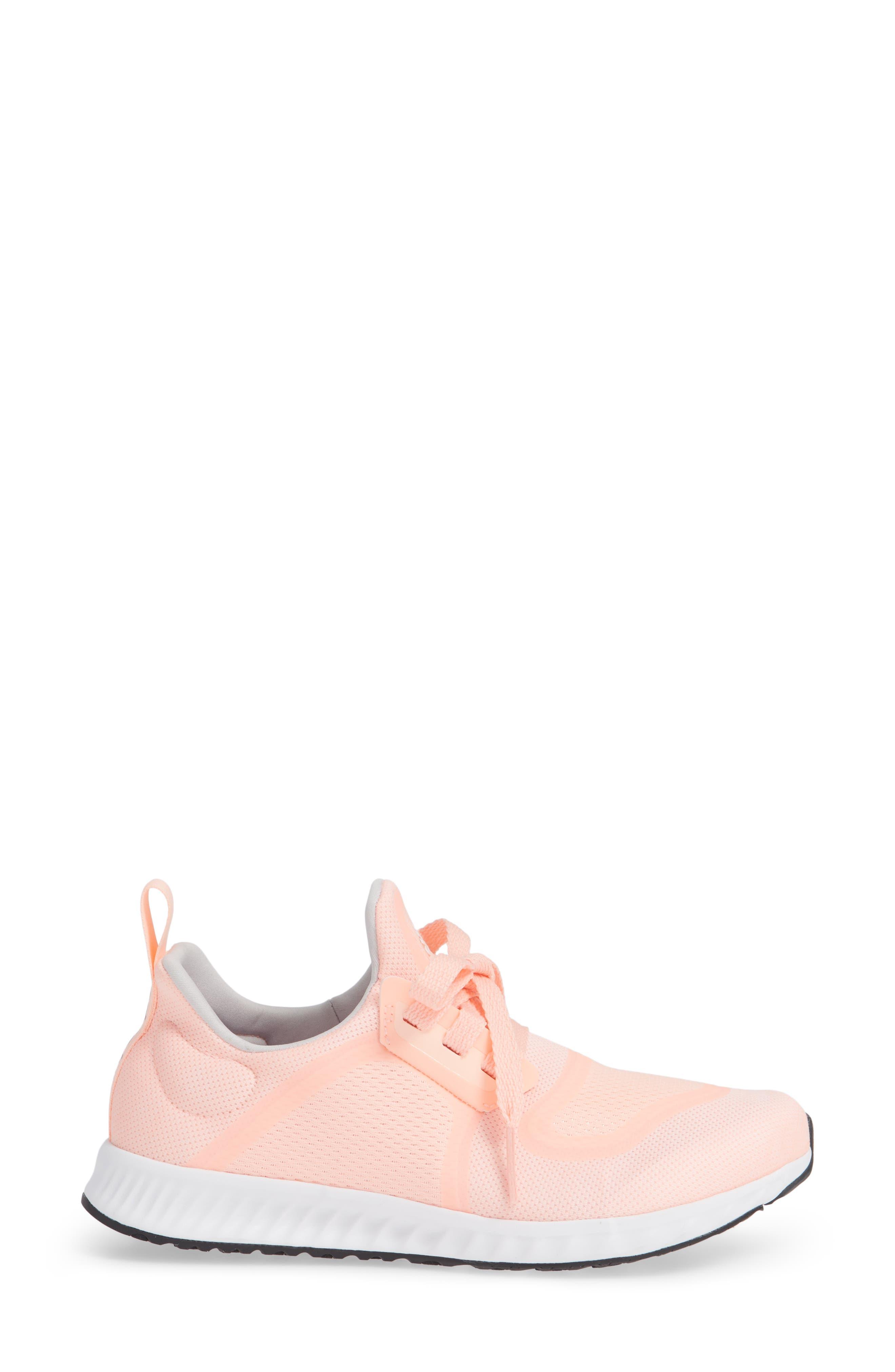 Edge Lux Clima Running Shoe,                             Alternate thumbnail 3, color,                             Clear Orange/ White