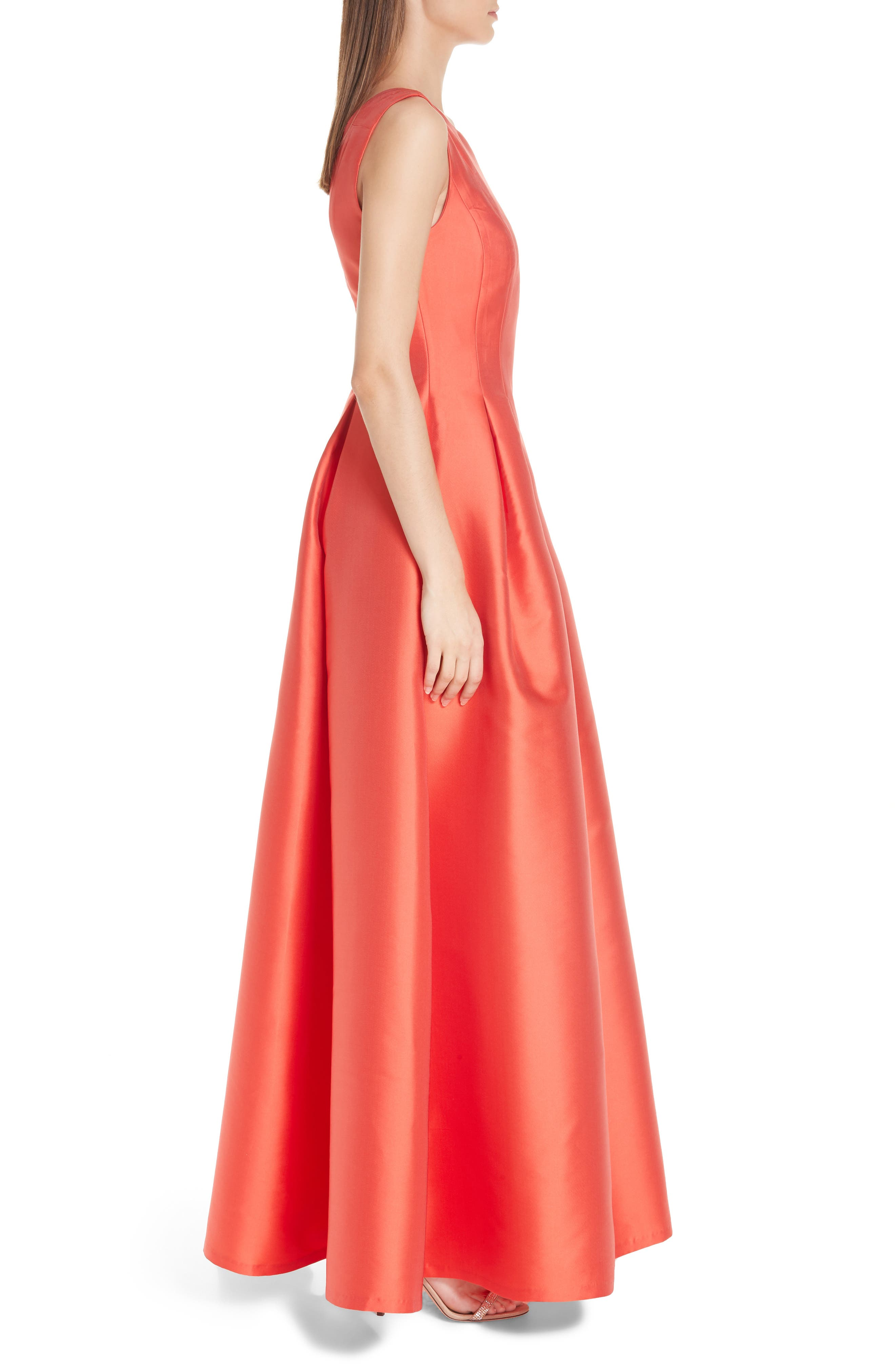 Marmara Ballgown,                             Alternate thumbnail 4, color,                             Coral Red
