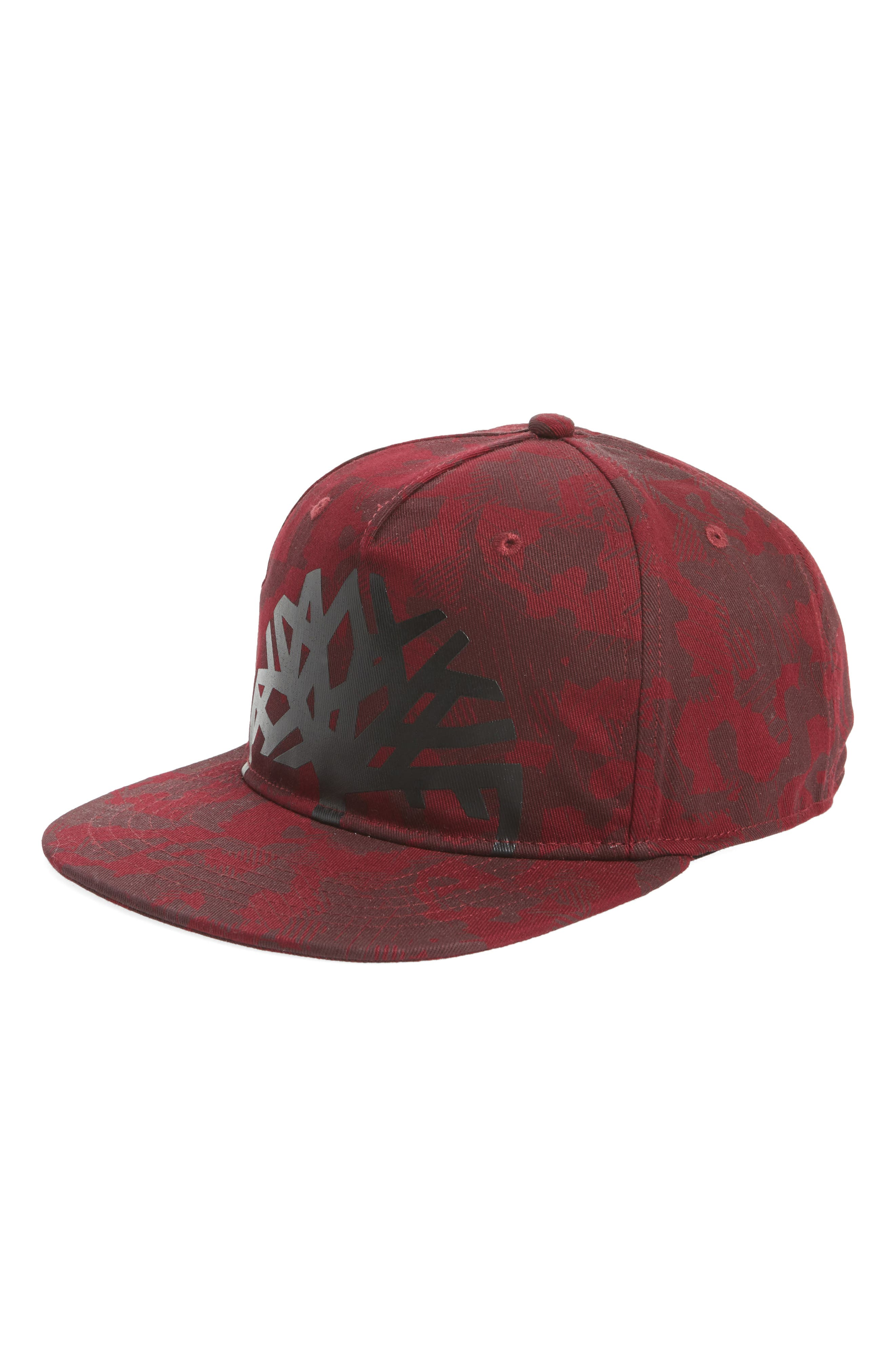 TIMBERLAND CASTLE HILL BASEBALL CAP - RED