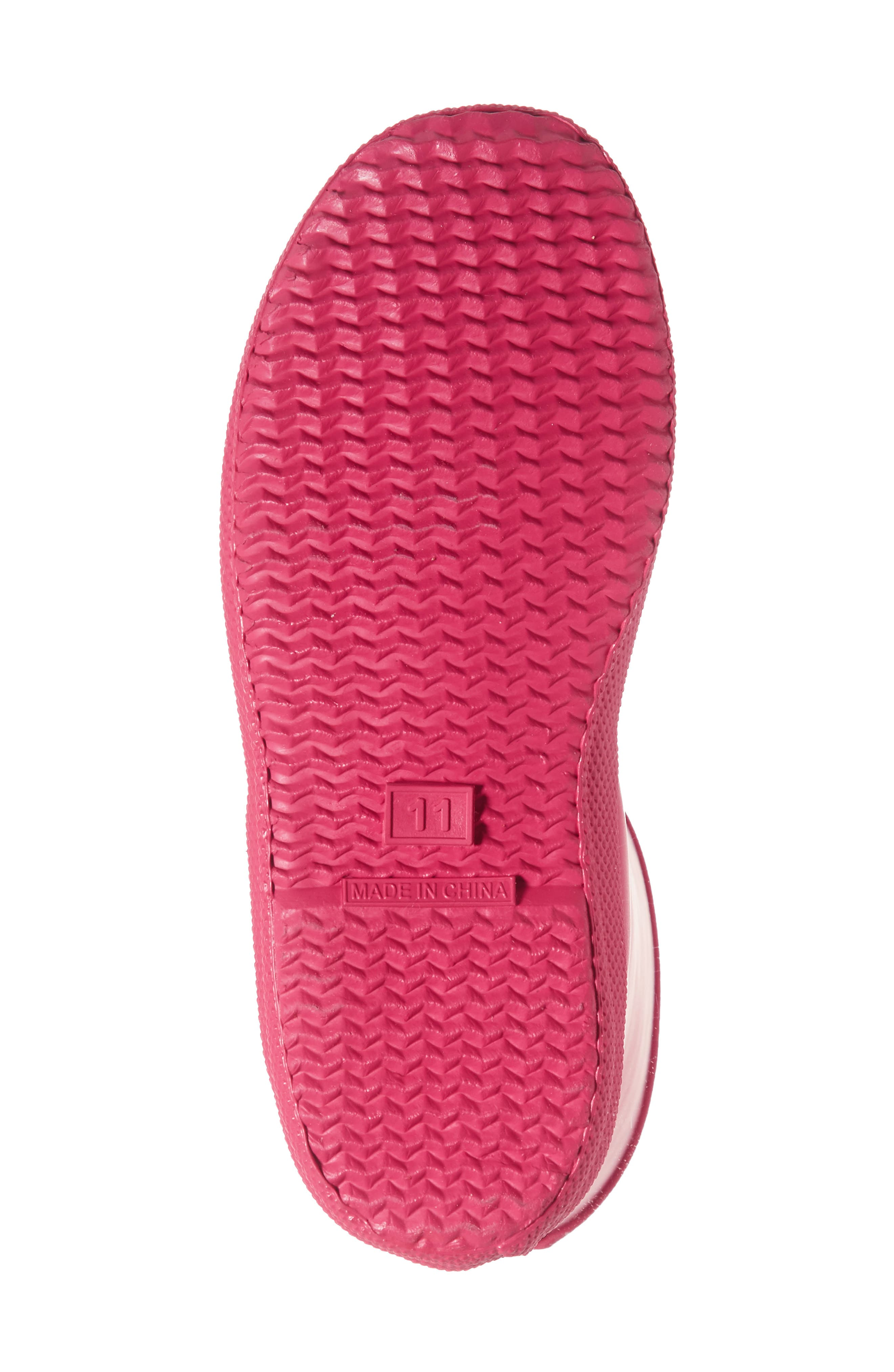 'First Classic' Rain Boot,                             Alternate thumbnail 5, color,                             Bright Pink