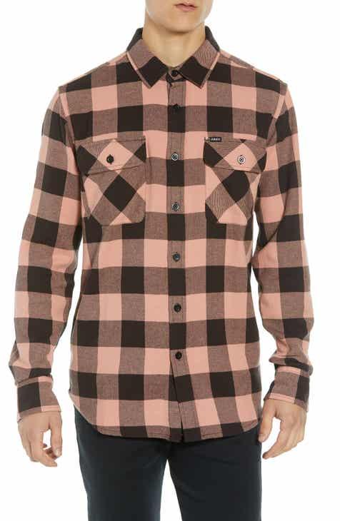 Mens Pink Flannel Shirt Shirt N Pants