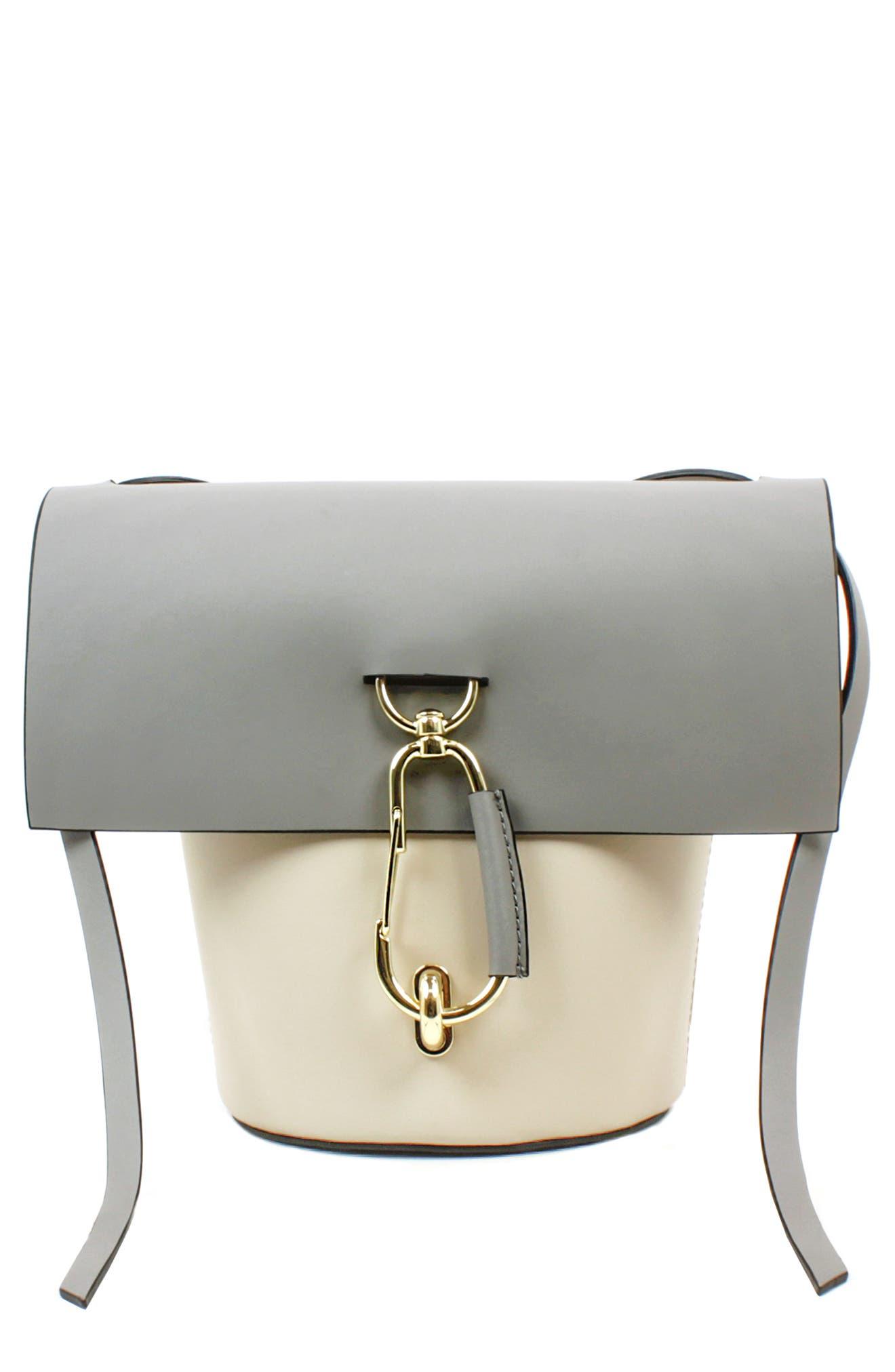 Belay Calfskin Leather Crossbody Bag,                             Main thumbnail 1, color,                             Mist