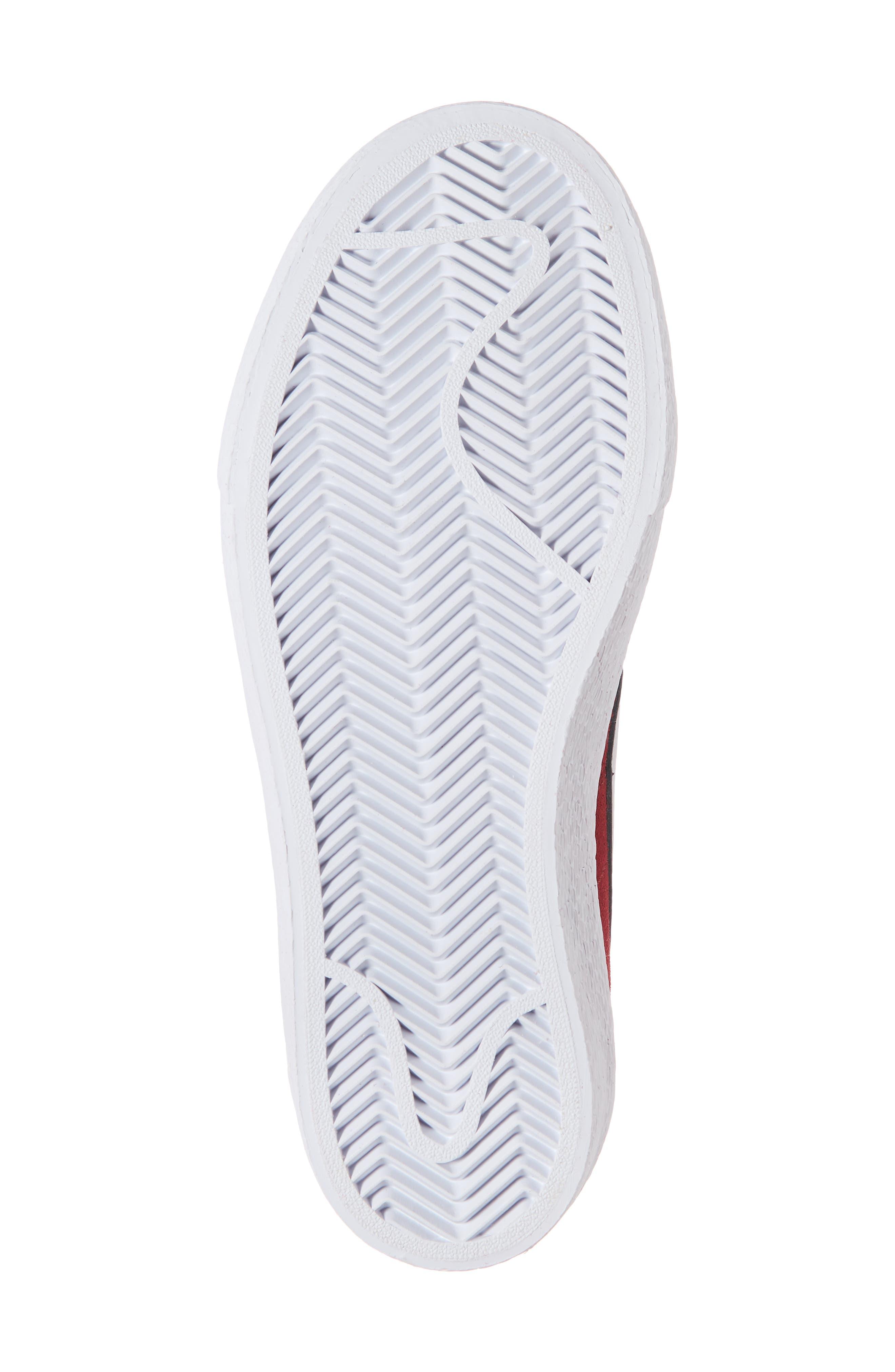 SB Bruin Hi Skateboarding Sneaker,                             Alternate thumbnail 3, color,                             Red Crush/ Vast Grey/ White
