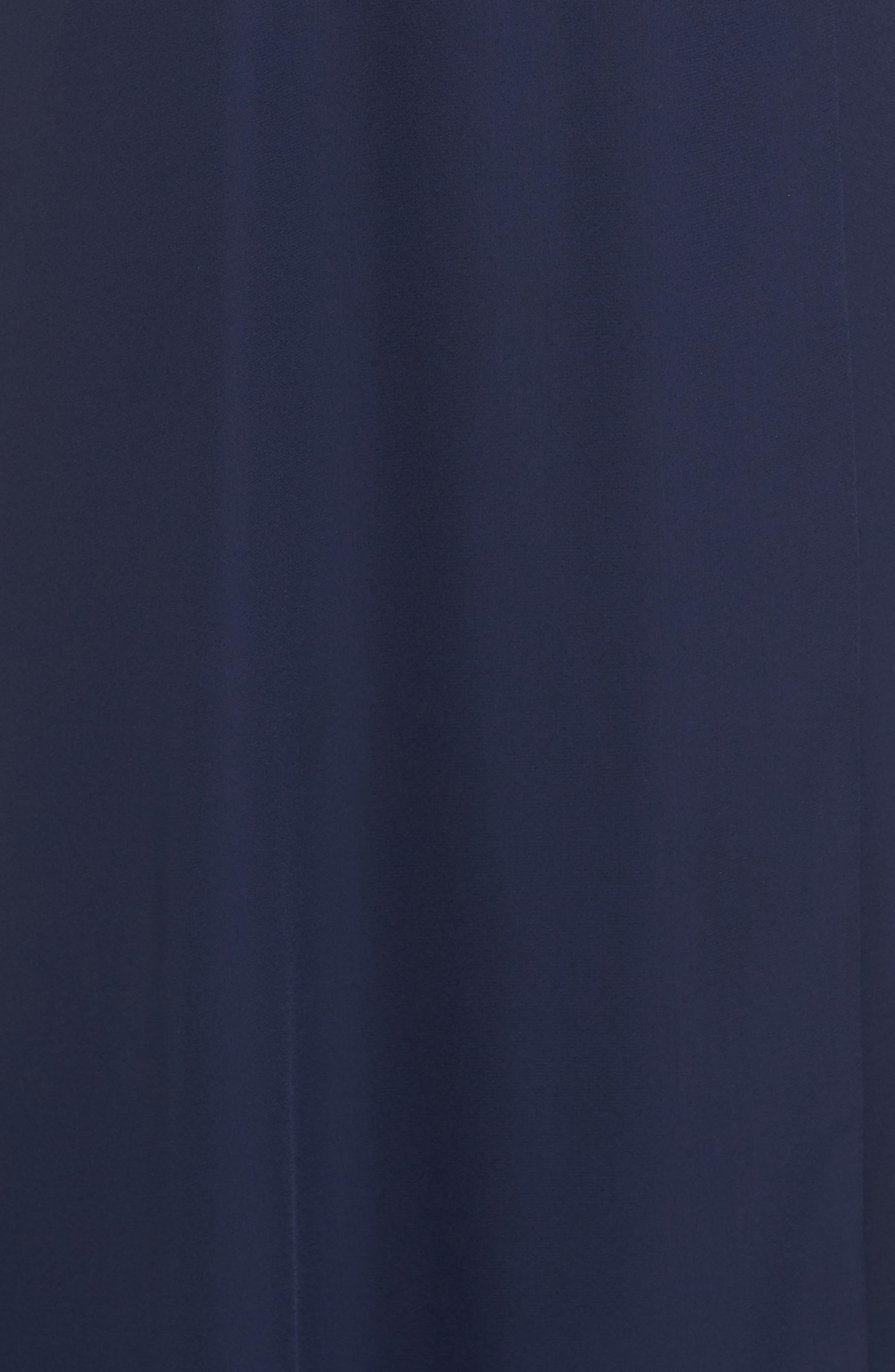 Jamie Ruffle Wrap Gown,                             Alternate thumbnail 4, color,                             Navy