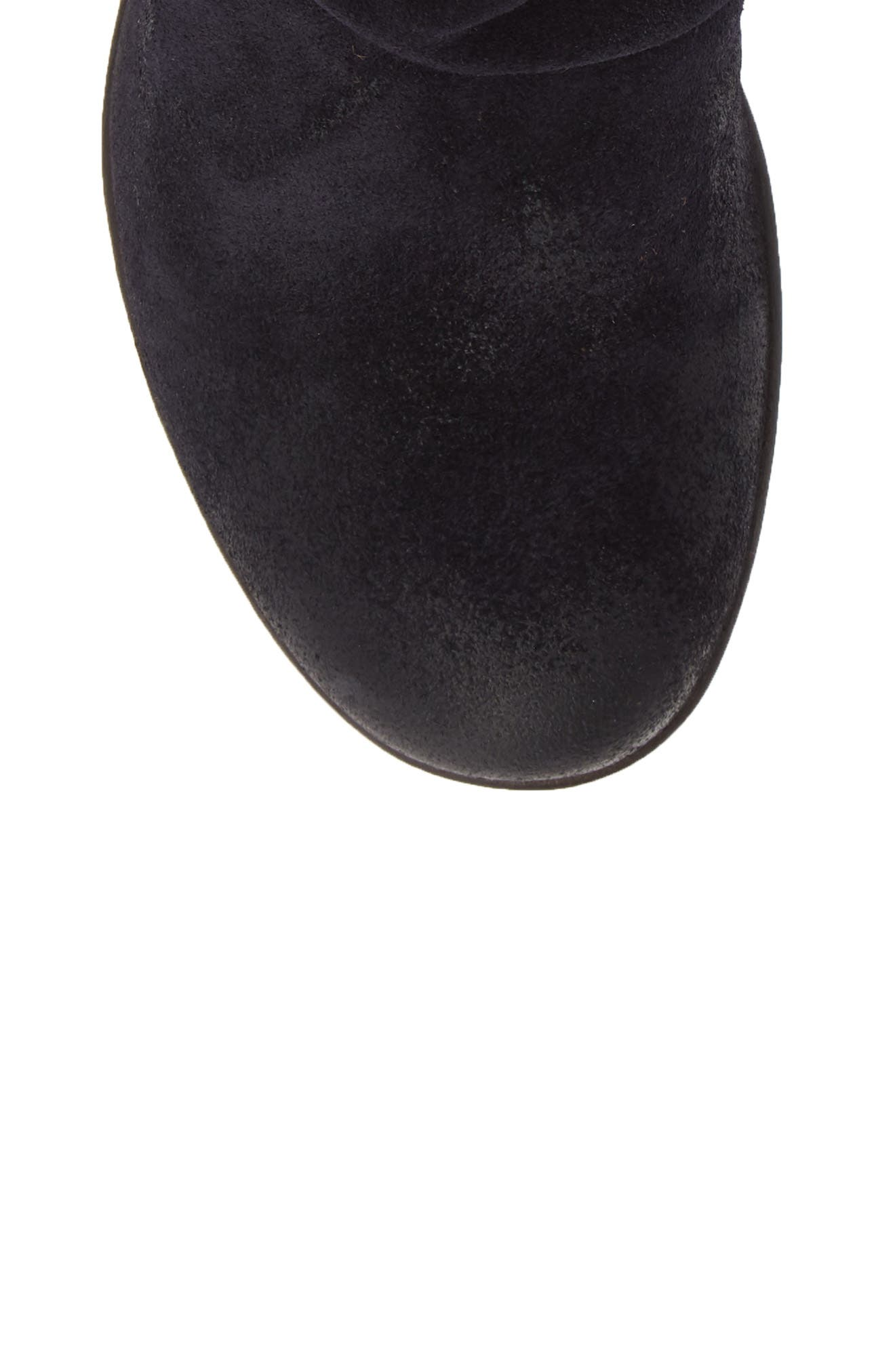 Hota Slouch Bootie,                             Alternate thumbnail 6, color,                             Navy Dark Brown Oil Suede