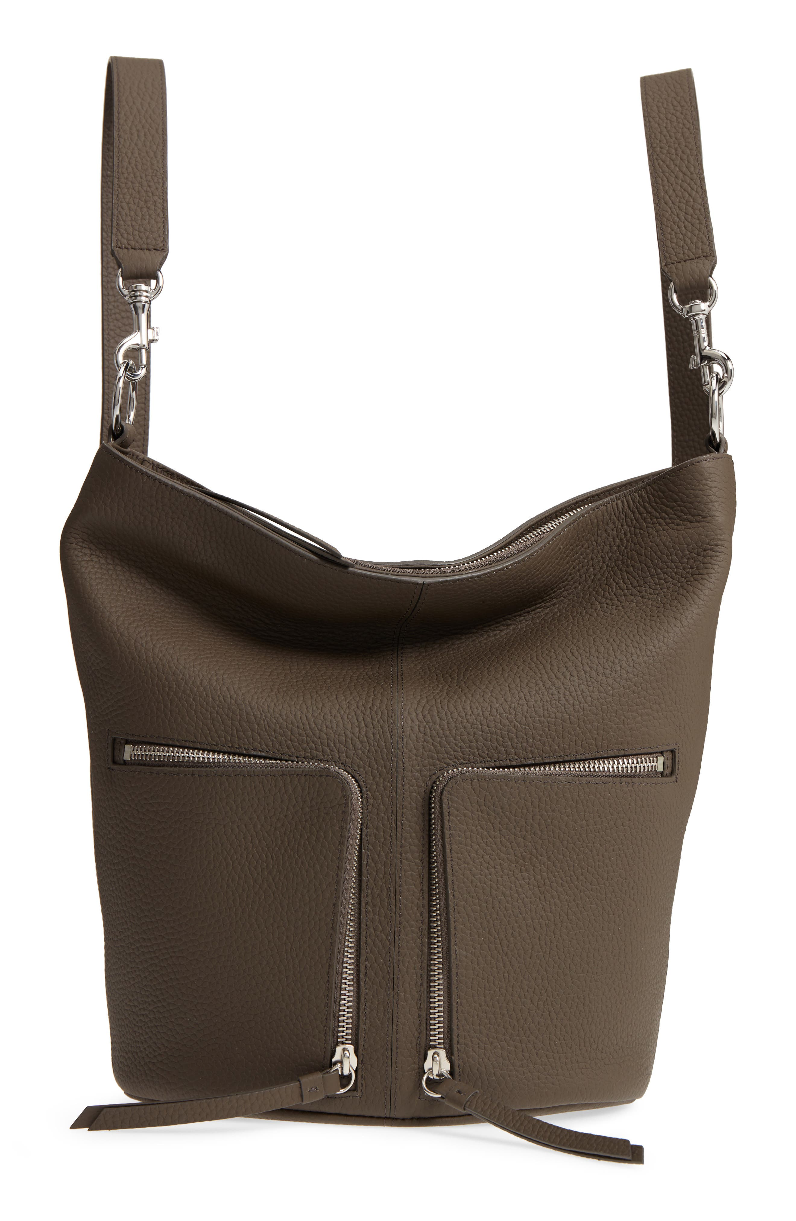 SMALL FETCH LEATHER BACKPACK - BROWN