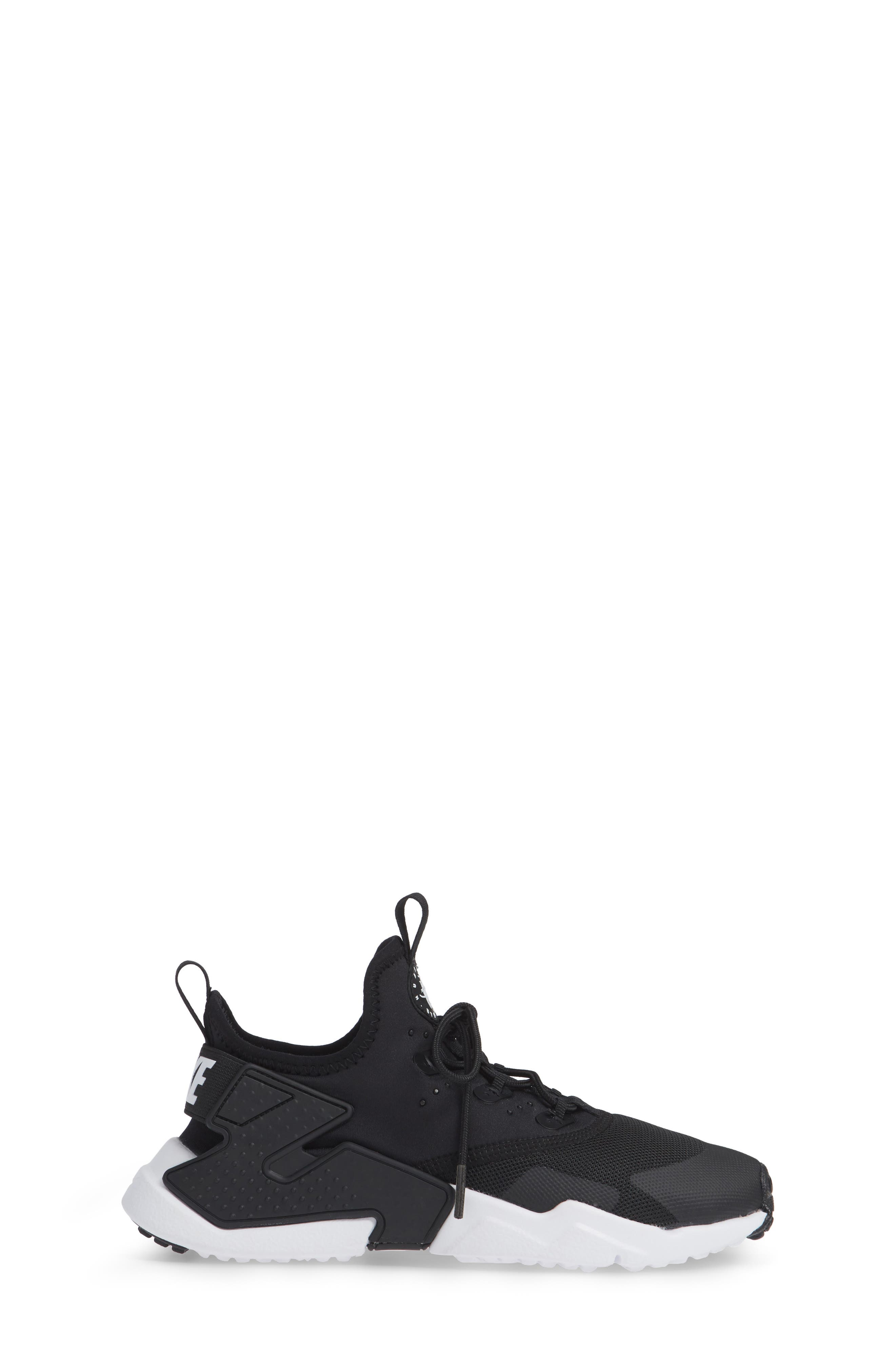 Huarache Run Drift Sneaker,                             Alternate thumbnail 5, color,                             Black/ Anthracite