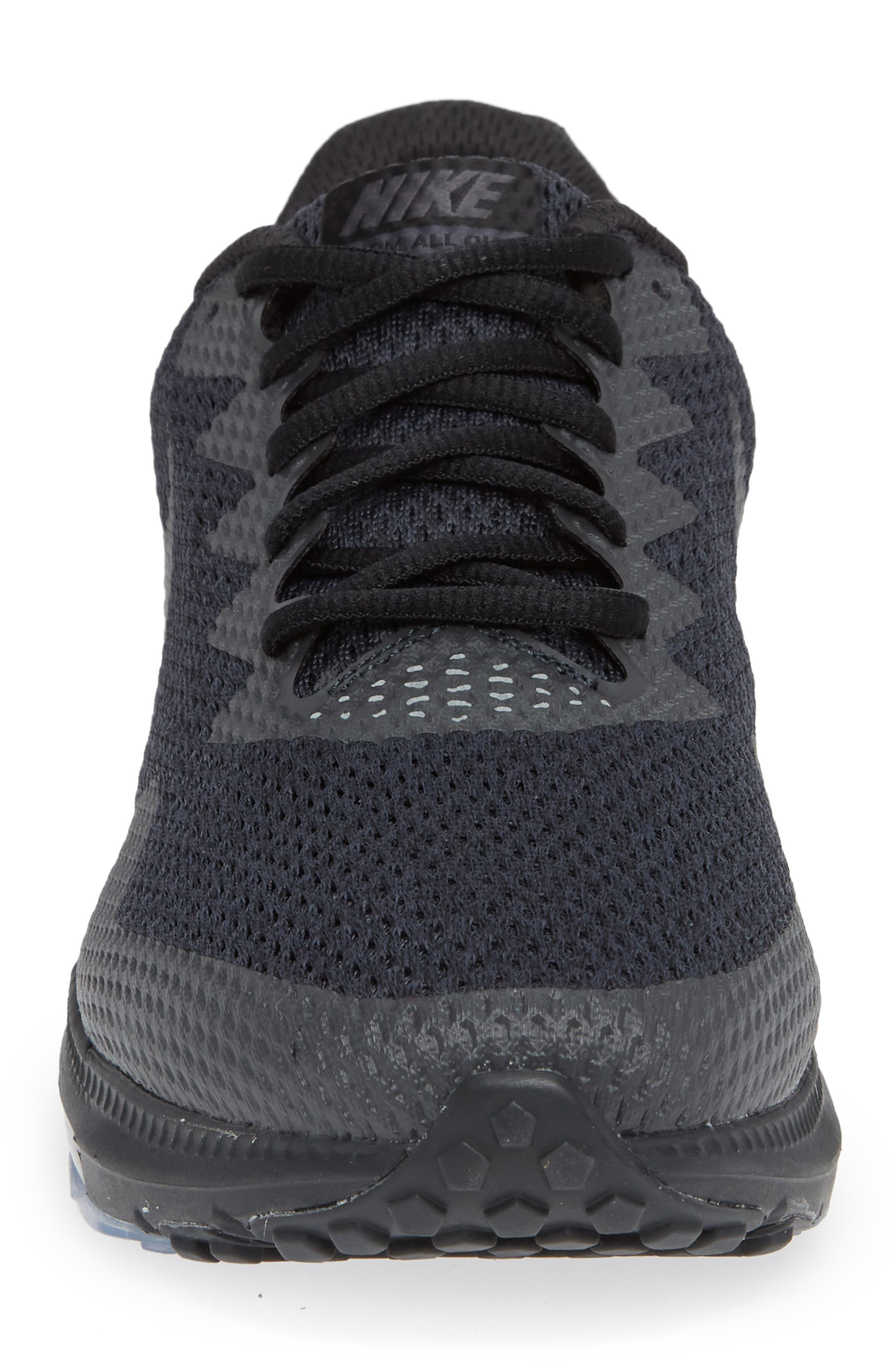 Zoom All Out Low 2 Running Shoe,                             Alternate thumbnail 5, color,                             Black/ Dark Grey/ Anthracite