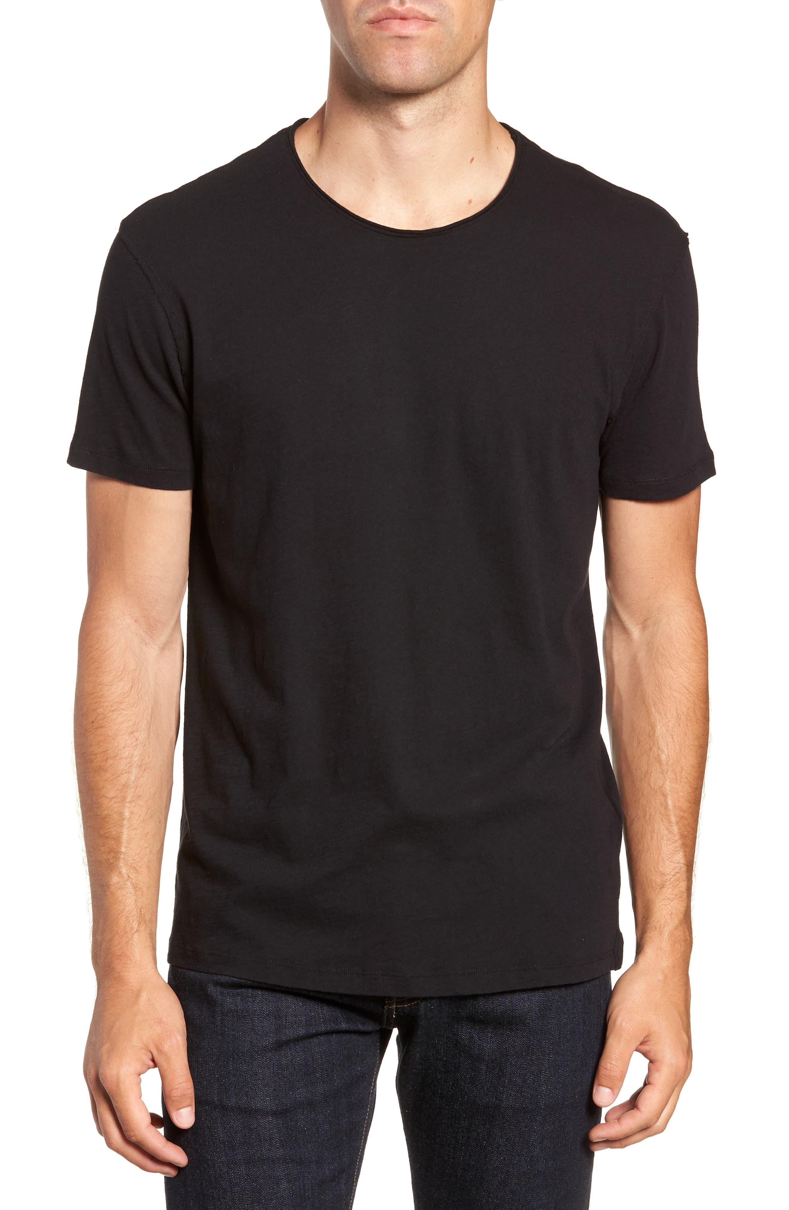 Slim Fit Crewneck T-Shirt,                         Main,                         color, Jet Black