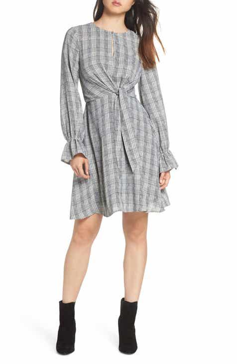 Sam Edelman Plaid Knot Front Fit   Flare Dress b805657f6