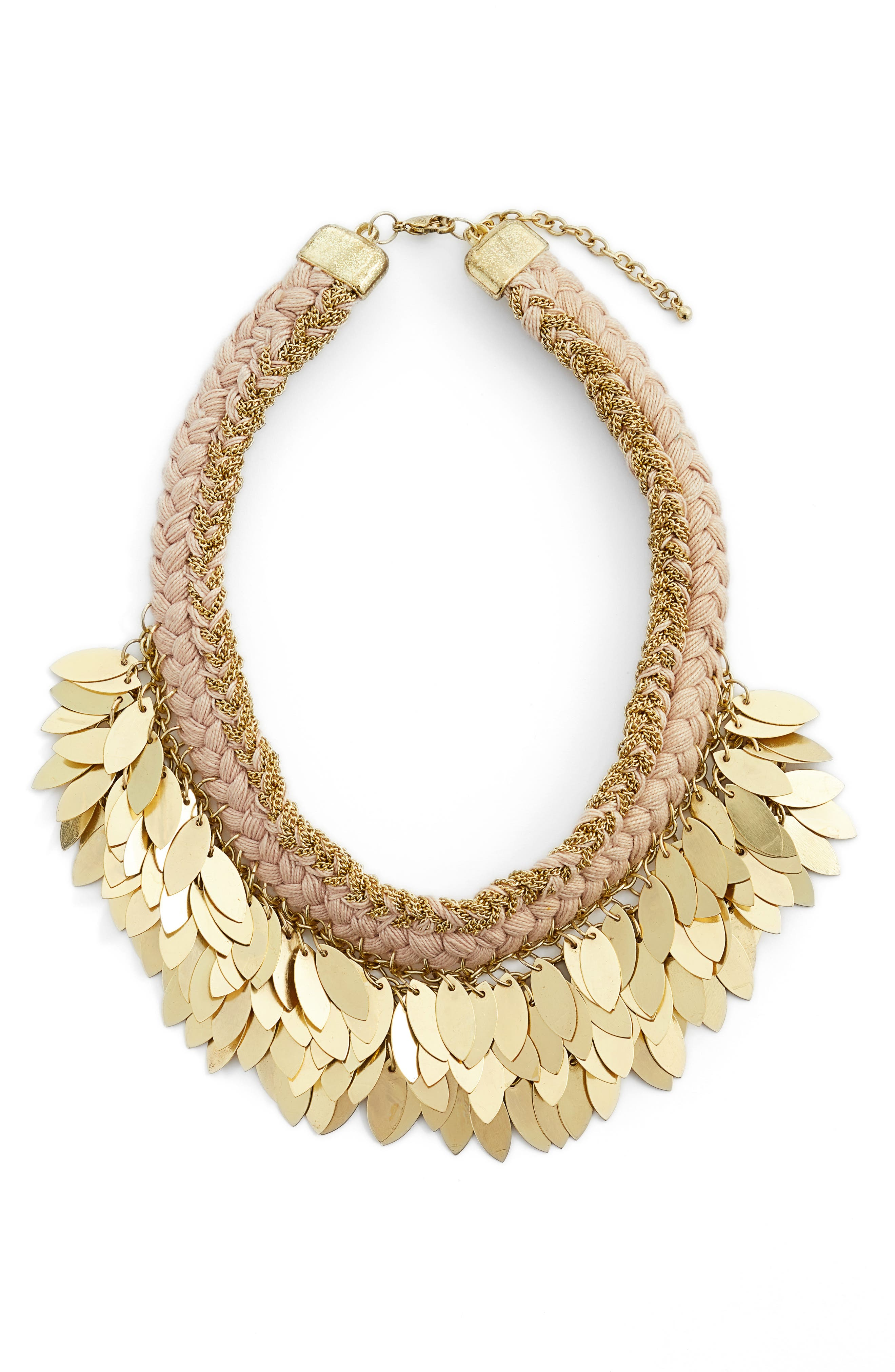 Collar Necklace,                         Main,                         color, Nude