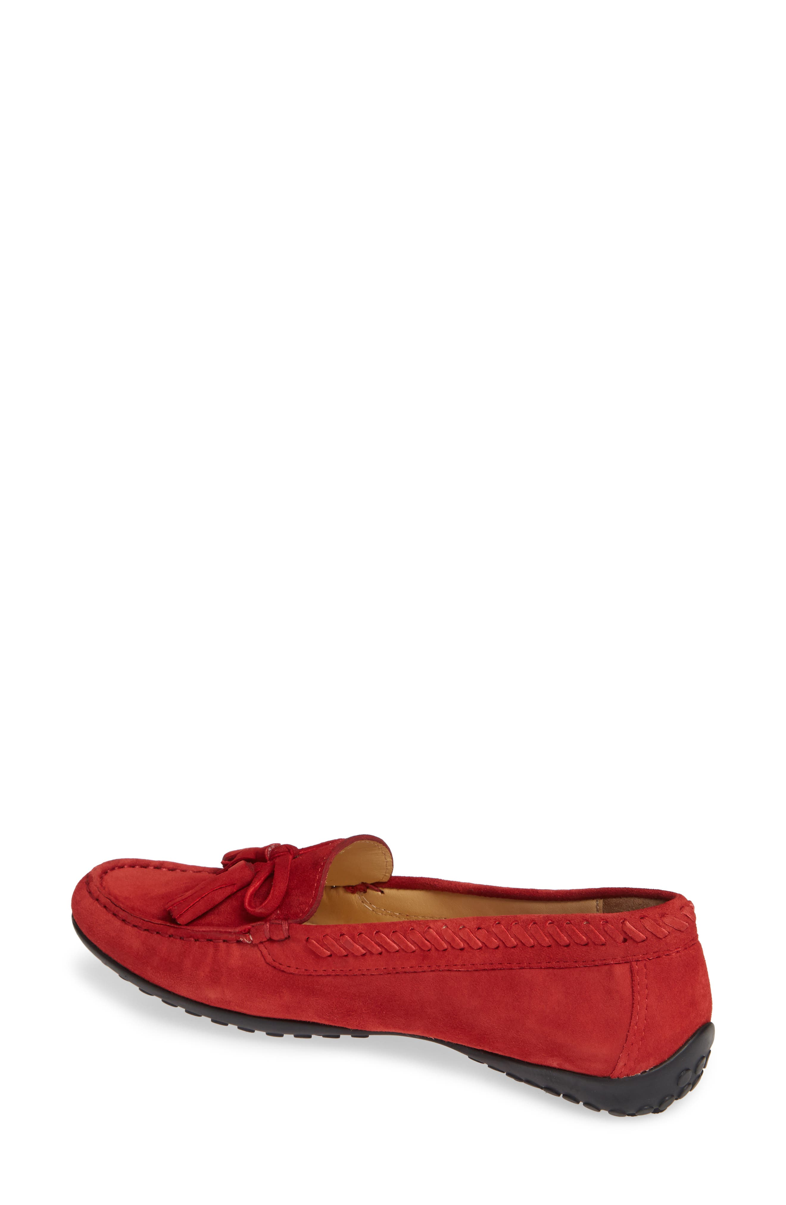 Acajou Driving Moccasin,                             Alternate thumbnail 2, color,                             Red Suede