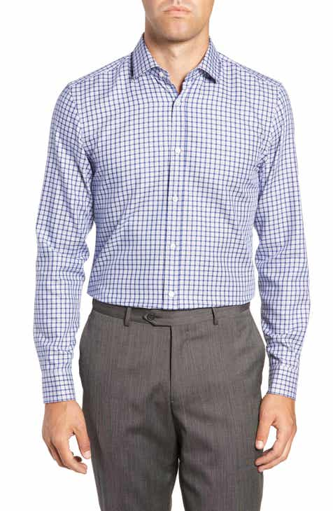 67ae242e BOSS x Nordstrom Isaac Slim Fit Check Dress Shirt