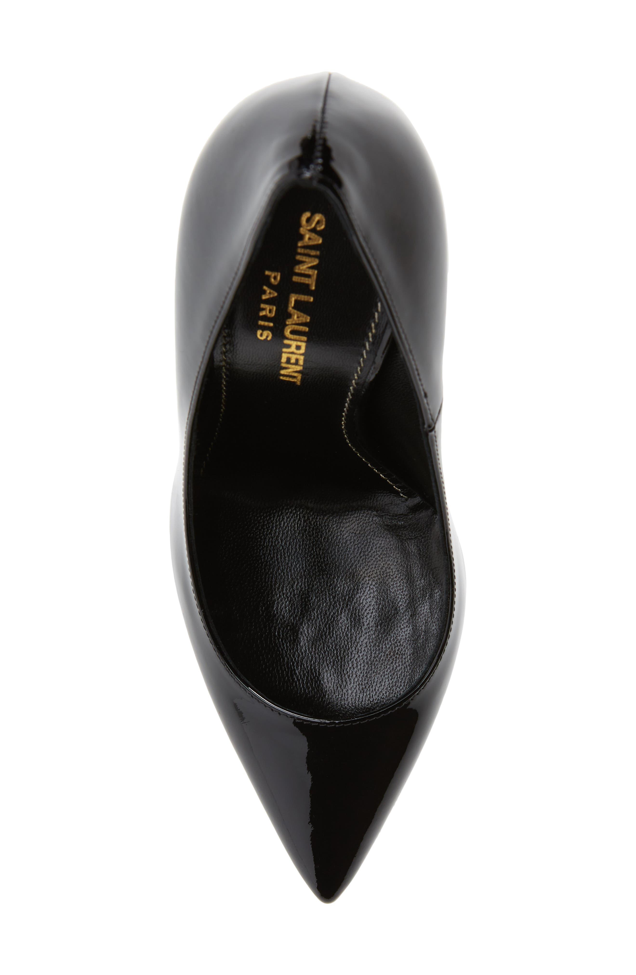 Opyum YSL Pointy Toe Pump,                             Alternate thumbnail 3, color,                             Black/ Black