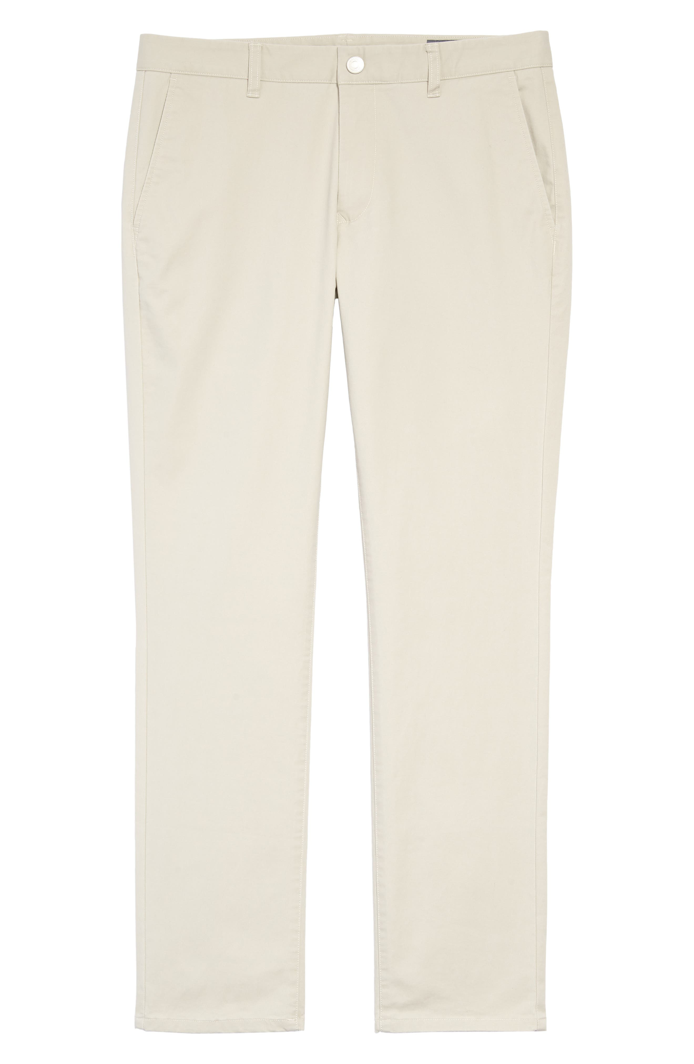 Tailored Fit Washed Stretch Cotton Chinos,                             Alternate thumbnail 6, color,                             Millstones