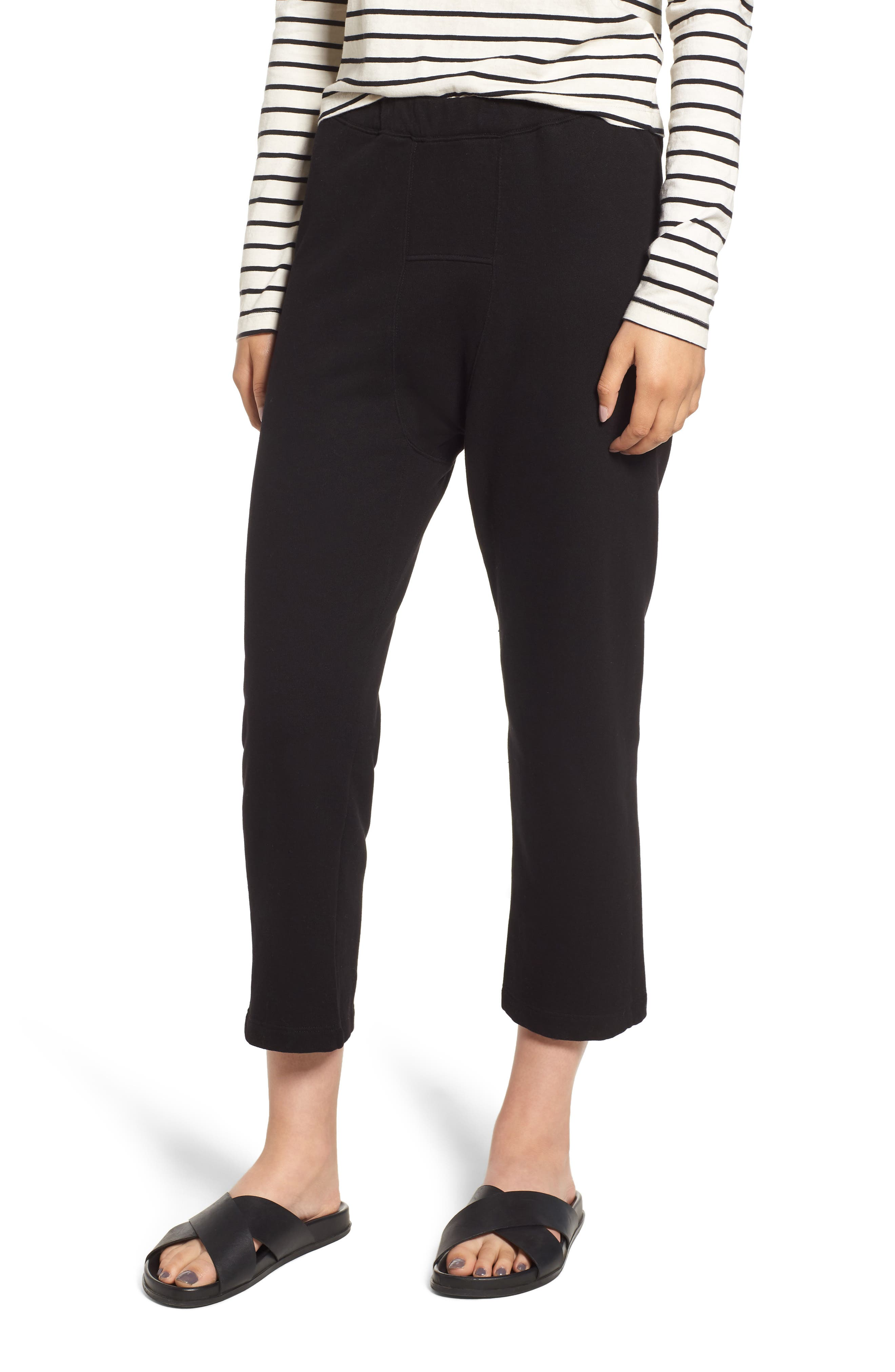 STATESIDE FRENCH TERRY CROP SWEATPANTS
