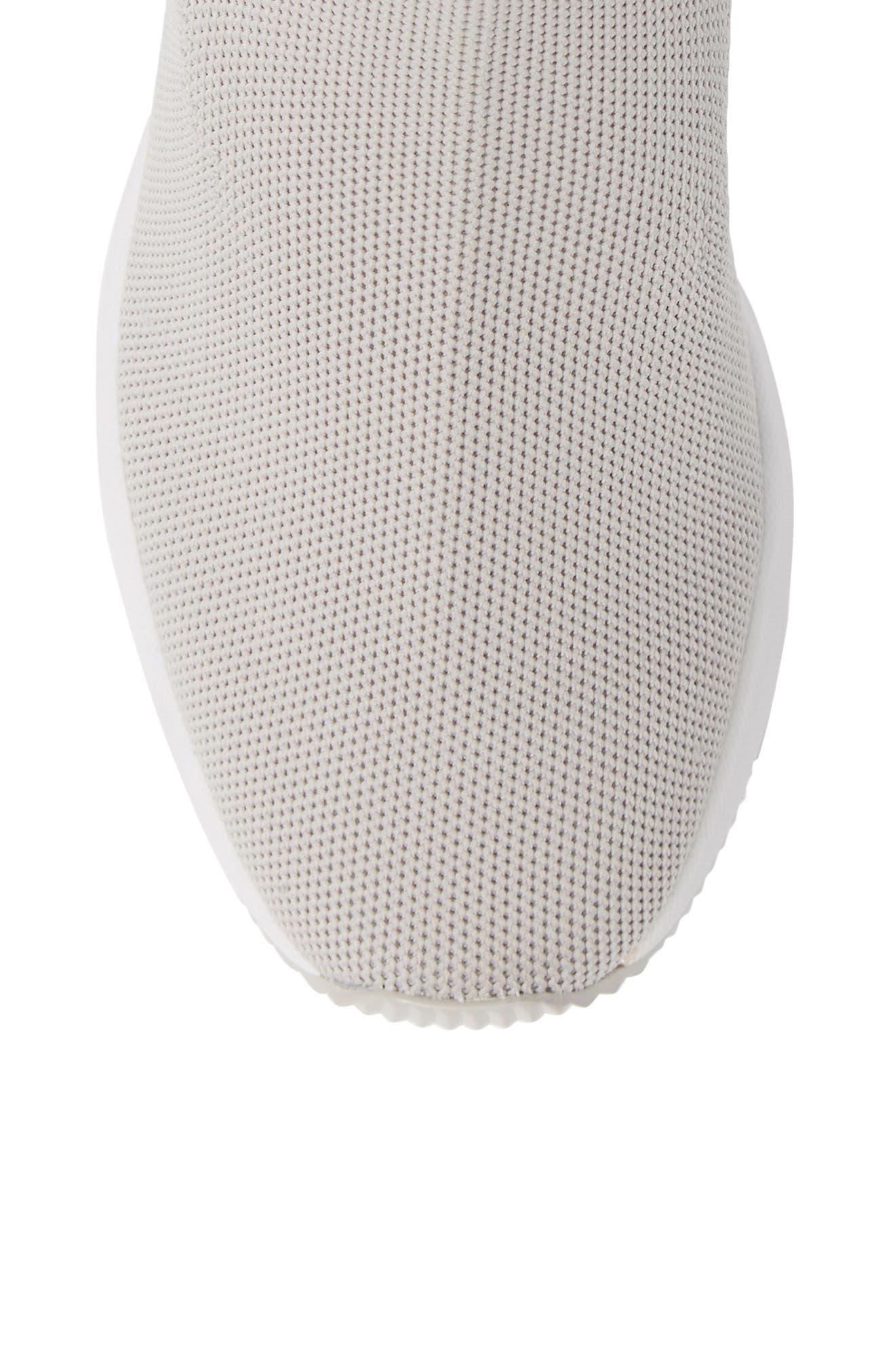 Skyler Knit Bootie,                             Alternate thumbnail 4, color,                             Aluminum/ Silver Knit Fabric
