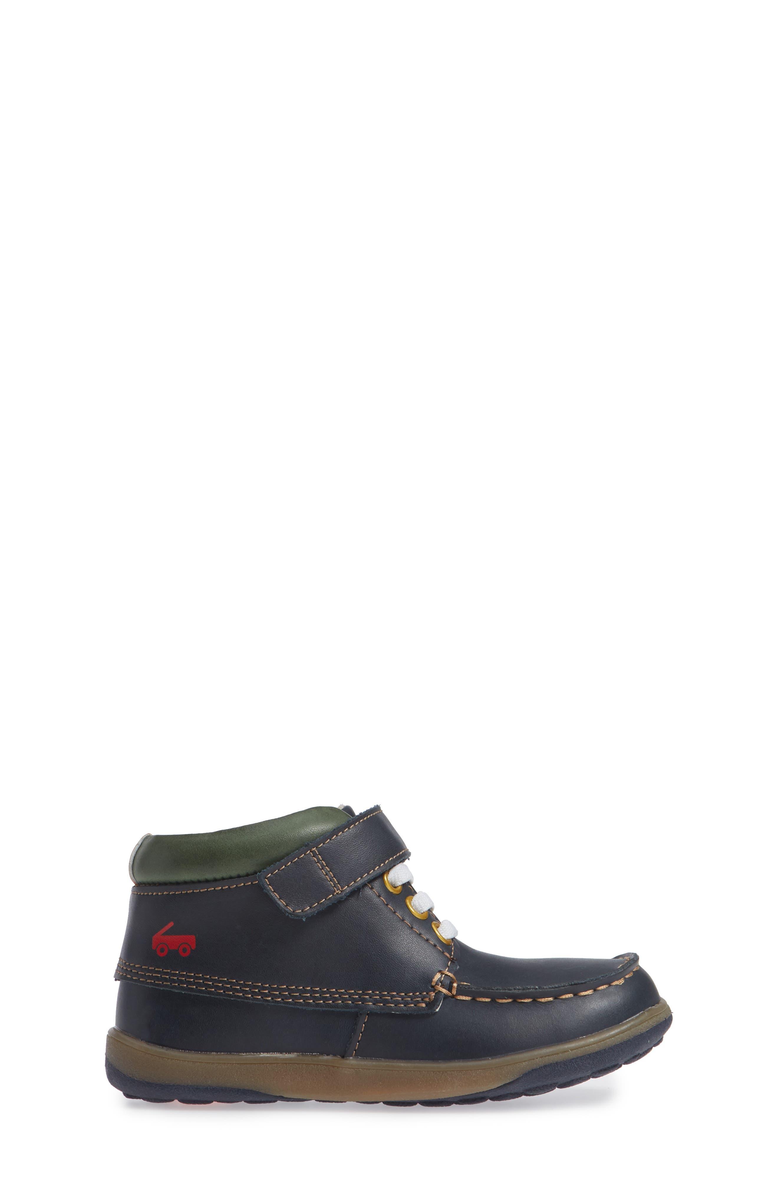 Owen High Top Sneaker Bootie,                             Alternate thumbnail 3, color,                             Navy