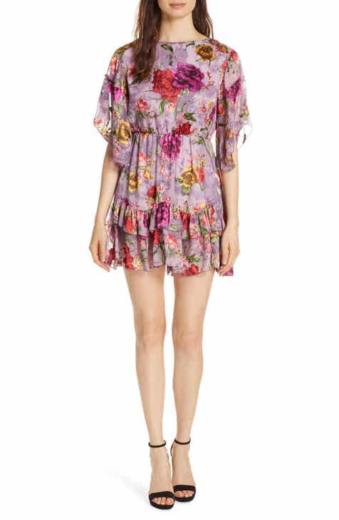 Silk dresses nordstrom alice olivia katrina ruffled floral dress mightylinksfo