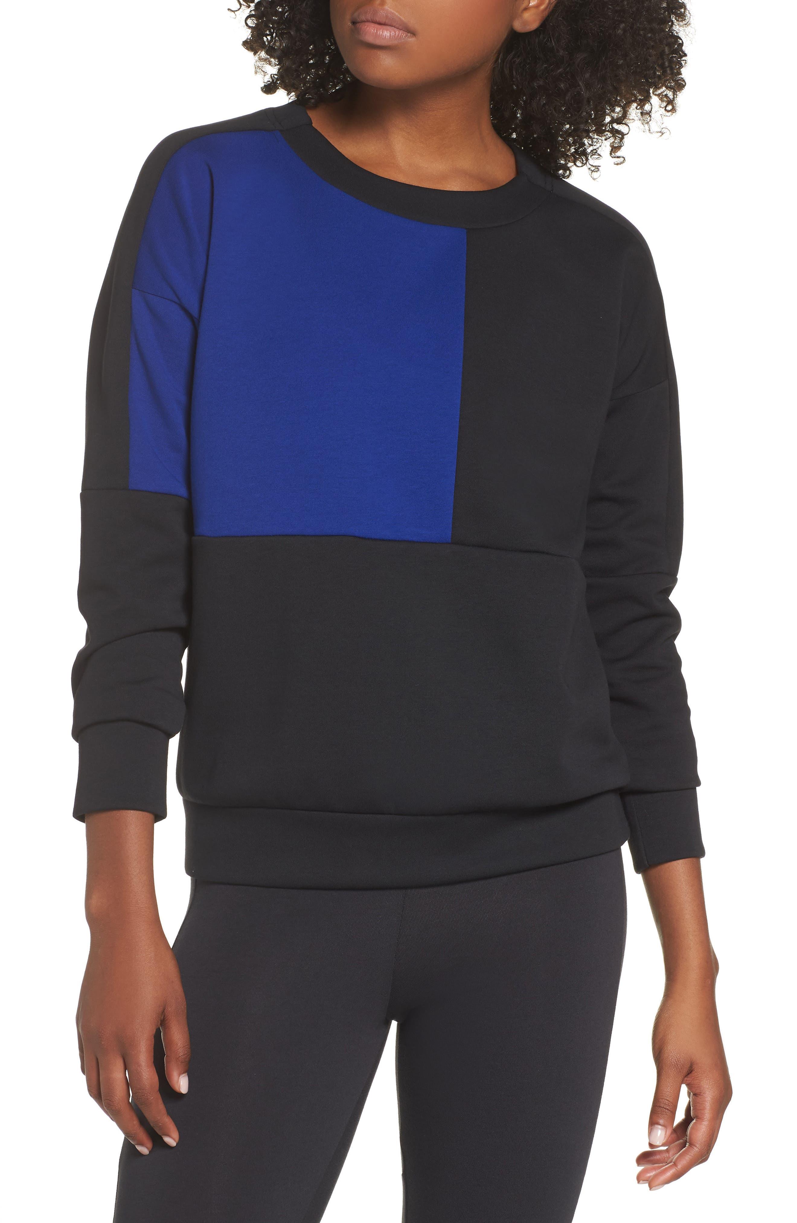 adidas all women nordstrom  adidas id glory colorblock crewneck sweatshirt