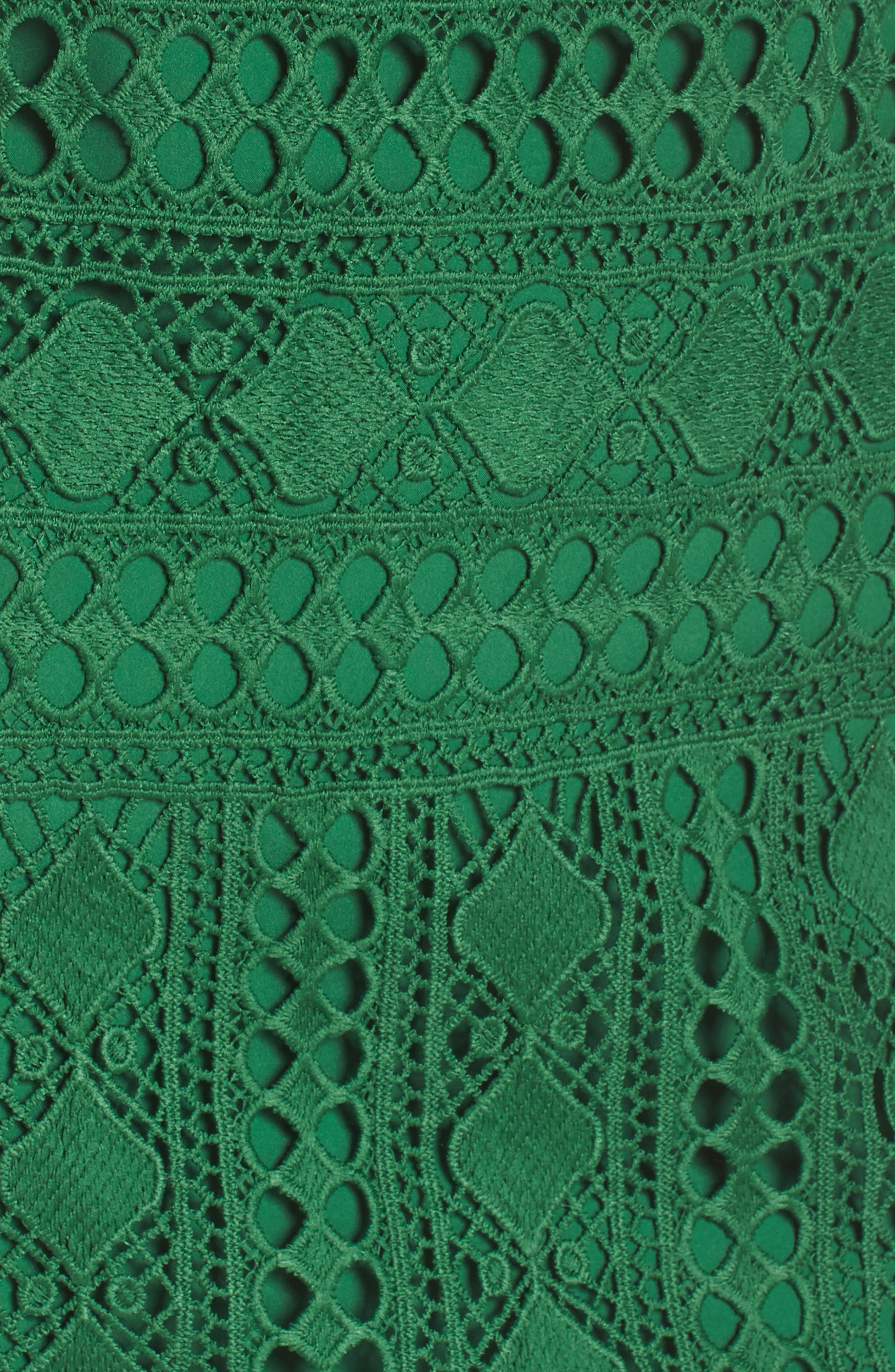 Lace Sheath Dress,                             Alternate thumbnail 5, color,                             Green