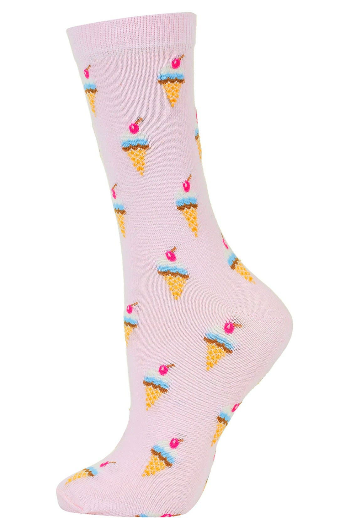 Alternate Image 1 Selected - Topshop Ice Cream Socks