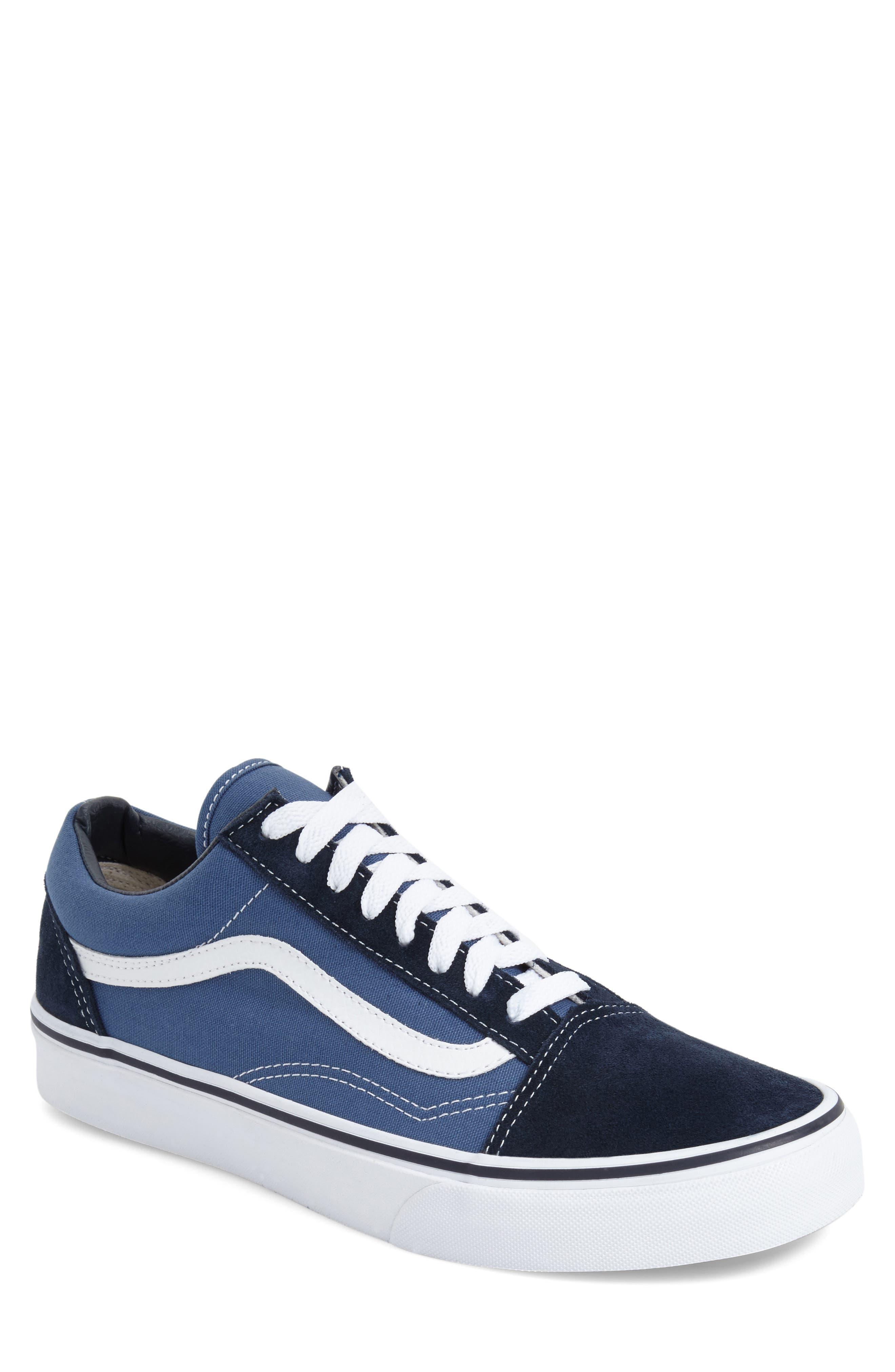 vans blue shoes
