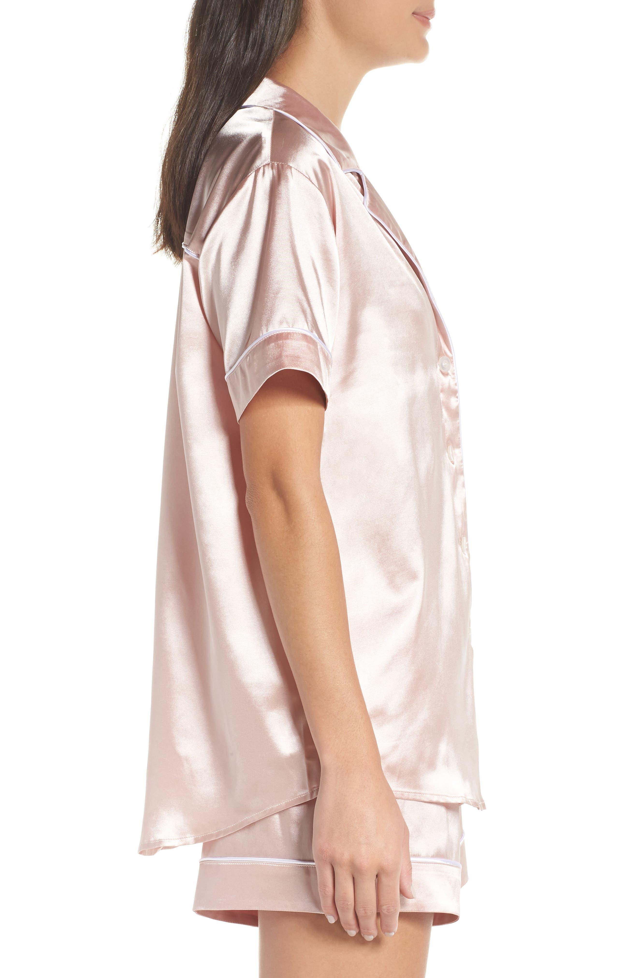 Bridesmaid Pajamas,                             Alternate thumbnail 3, color,                             Pink