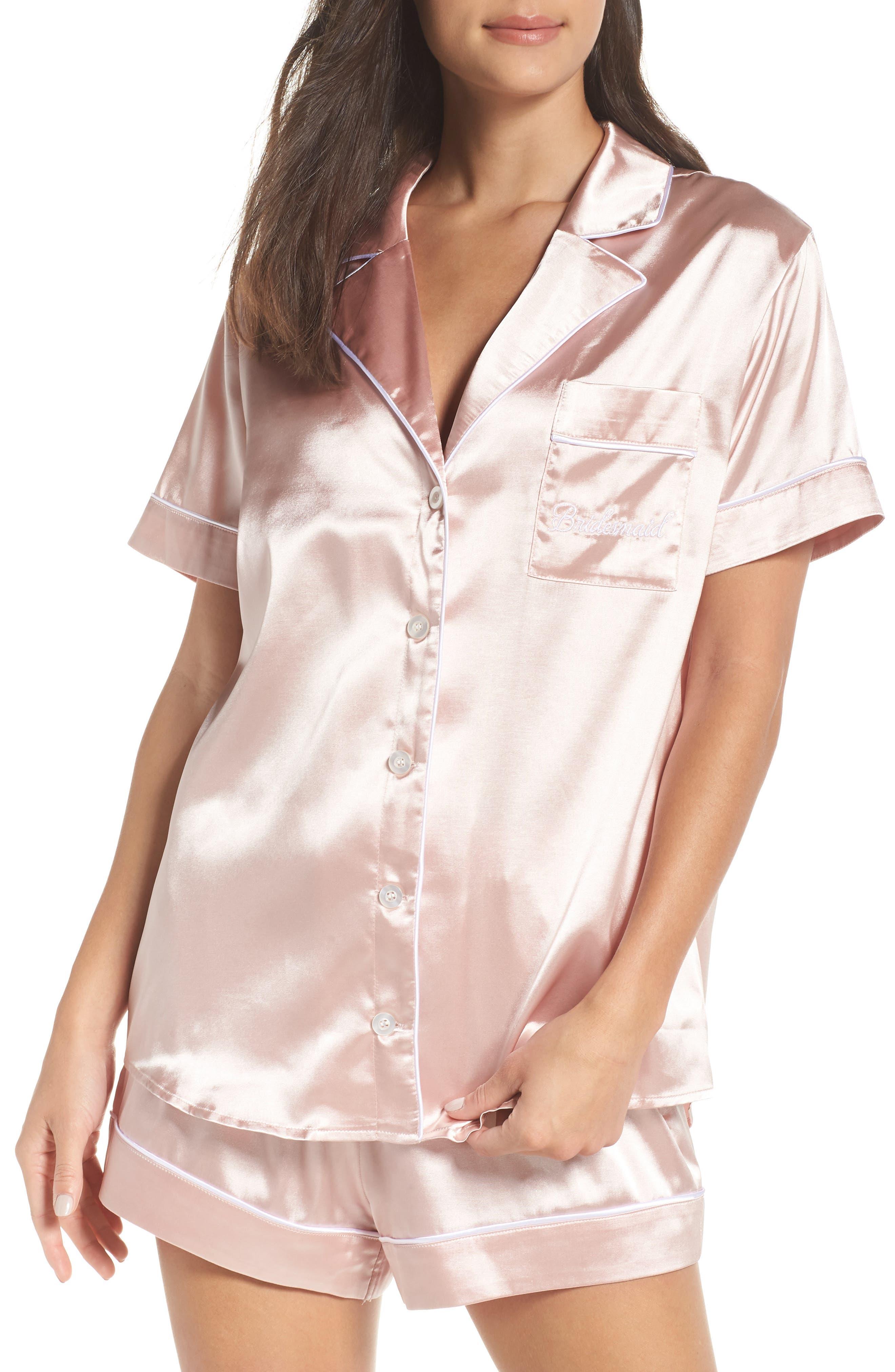 Bridesmaid Pajamas,                             Main thumbnail 1, color,                             Pink