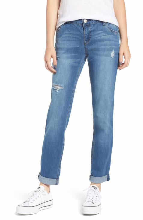 1822 Denim Ripped Girlfriend Jeans (Greg)