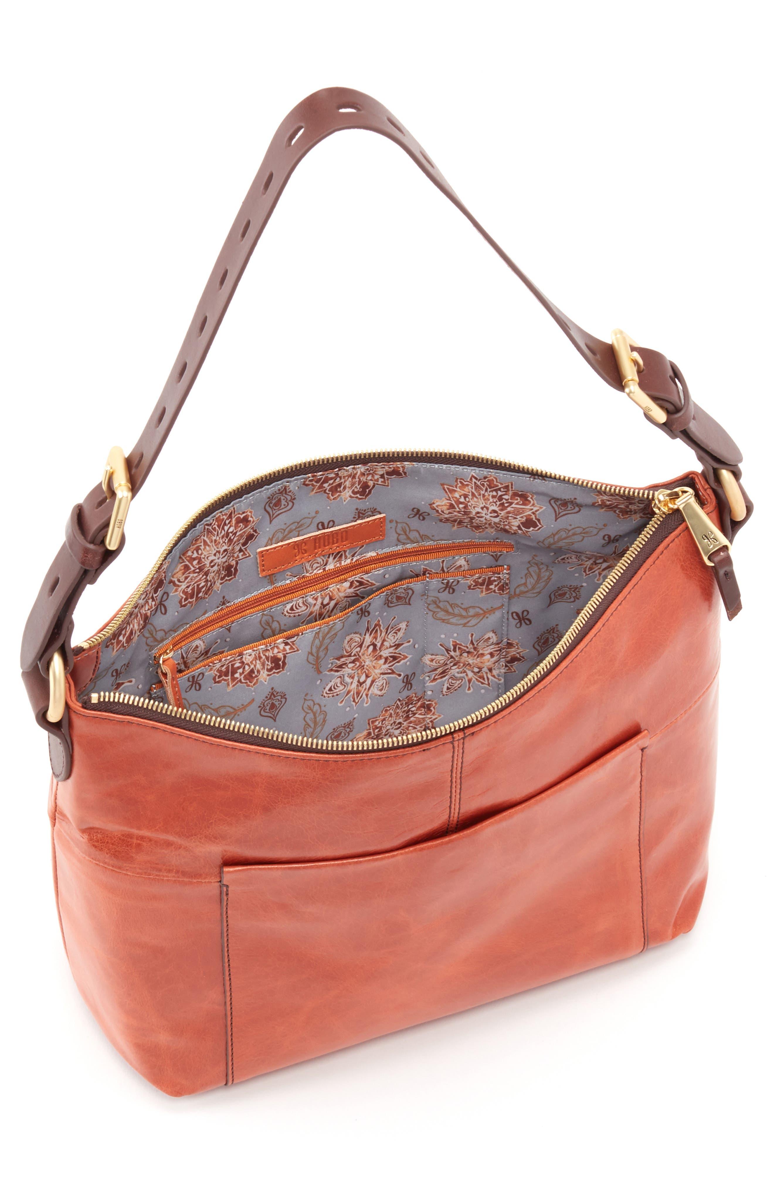 'Charlie' Leather Shoulder Bag,                             Alternate thumbnail 3, color,                             Clay
