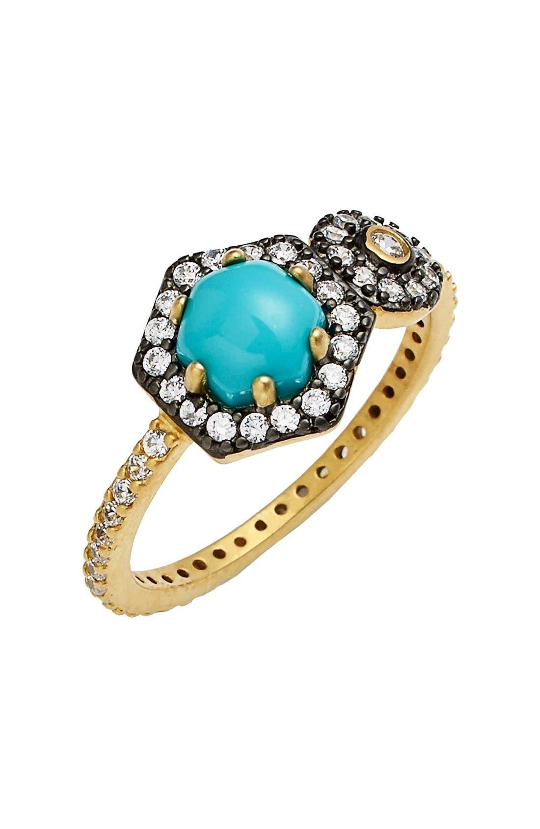 Alternate Image 1 Selected - FREIDA ROTHMAN 'Metropolitan' Stone Two-Tone Ring