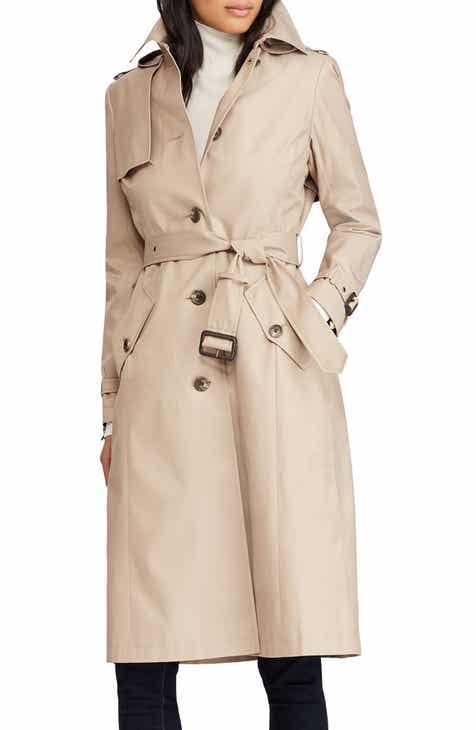 3f79493aa24 Lauren Ralph Lauren Hooded Trench Coat