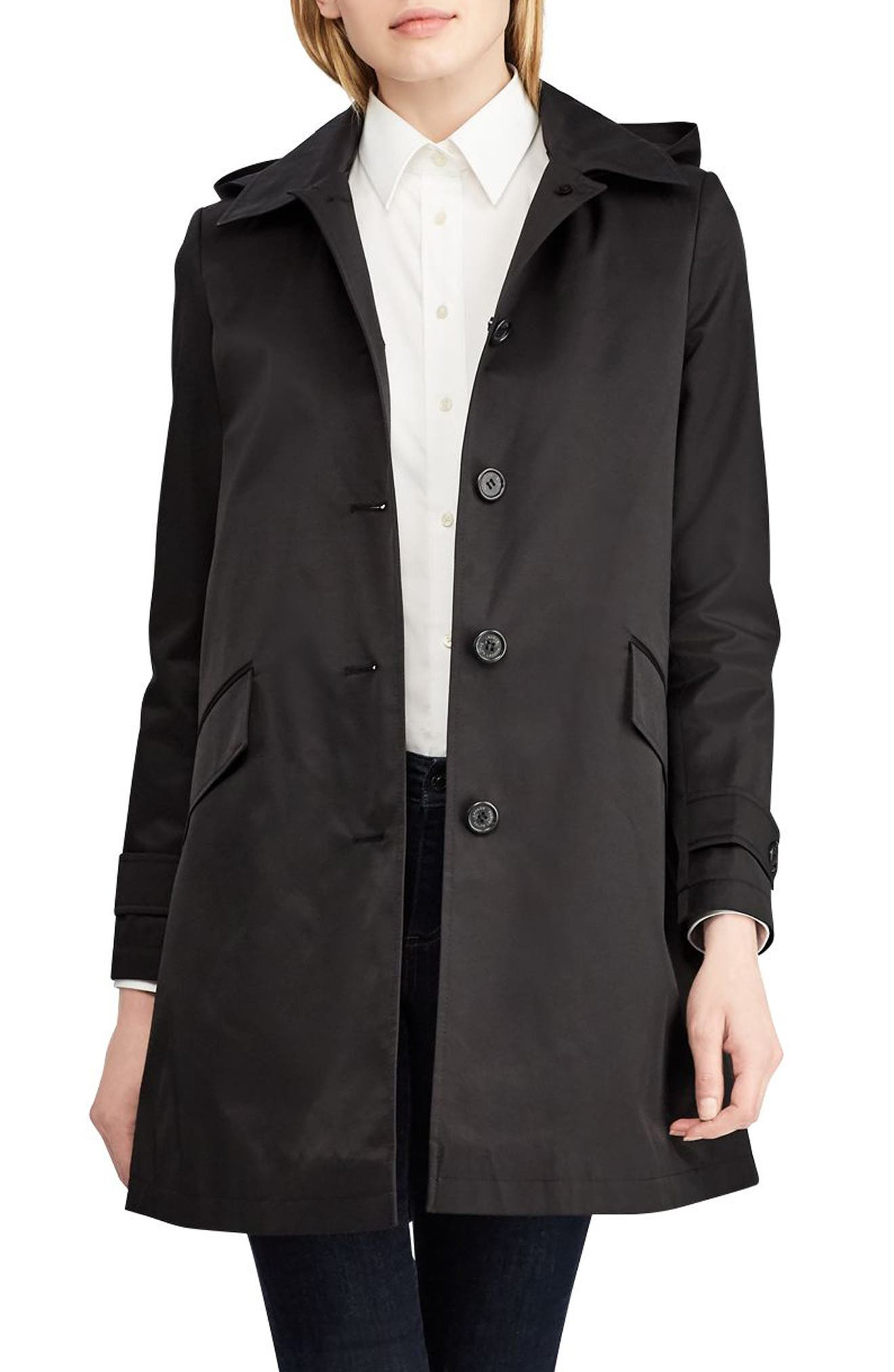 Lauren Ralph Lauren Hooded Raincoat