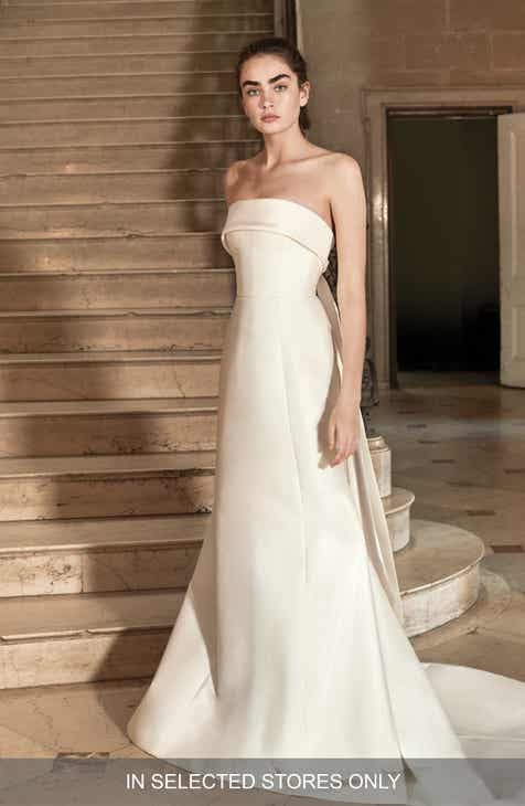 Carolina Herrera Hunter Strapless Silk Mikado A Line Gown