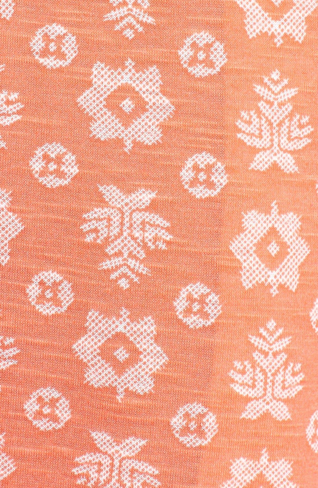 Alternate Image 4  - kensie Print Crop Jersey Pajama Pants