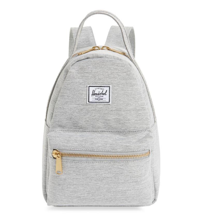 03072c53aba Herschel Supply Co. Mini Nova Backpack - Grey In Light Grey Crosshatch